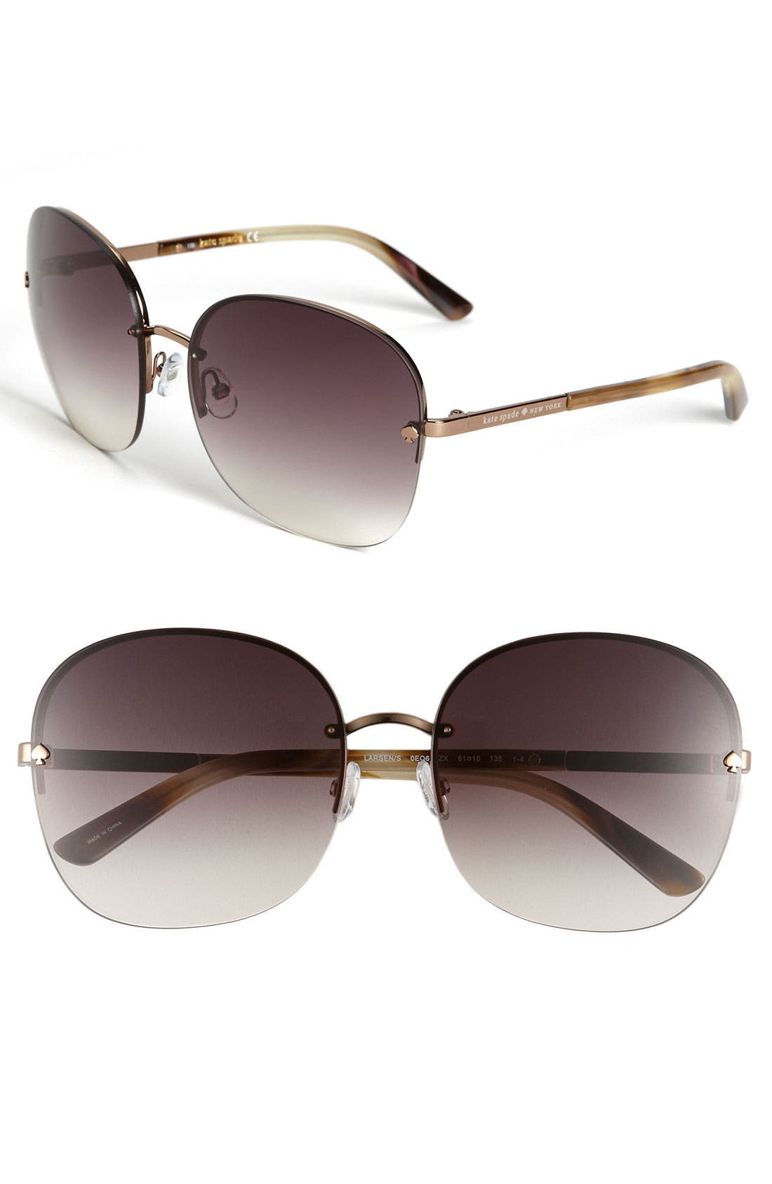Alternate Image 1 Selected - kate spade new york 'larsen' rimless sunglasses