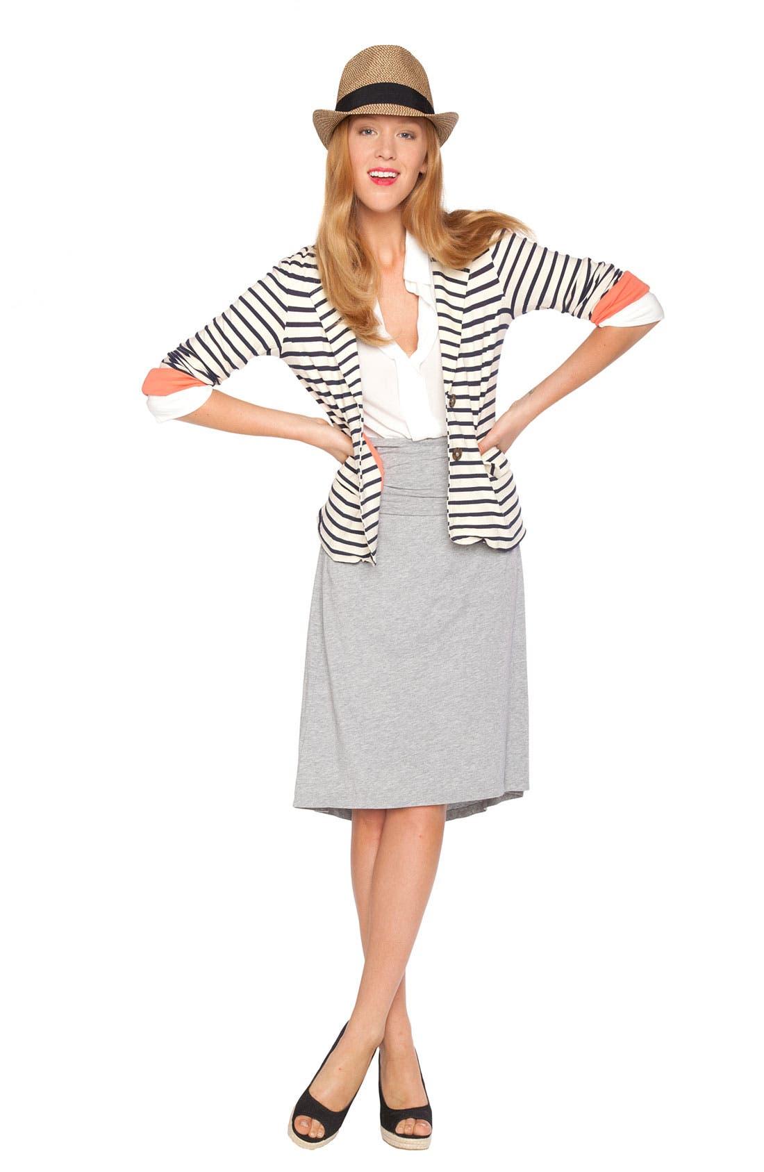Alternate Image 1 Selected - Splendid Shirt, Blazer & Skirt