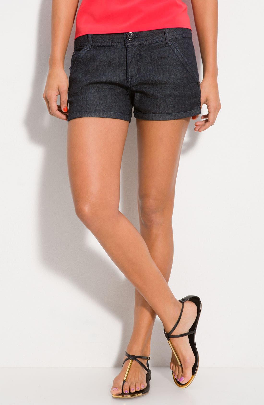 Main Image - Jolt Stretch Cotton Shorts (Juniors)