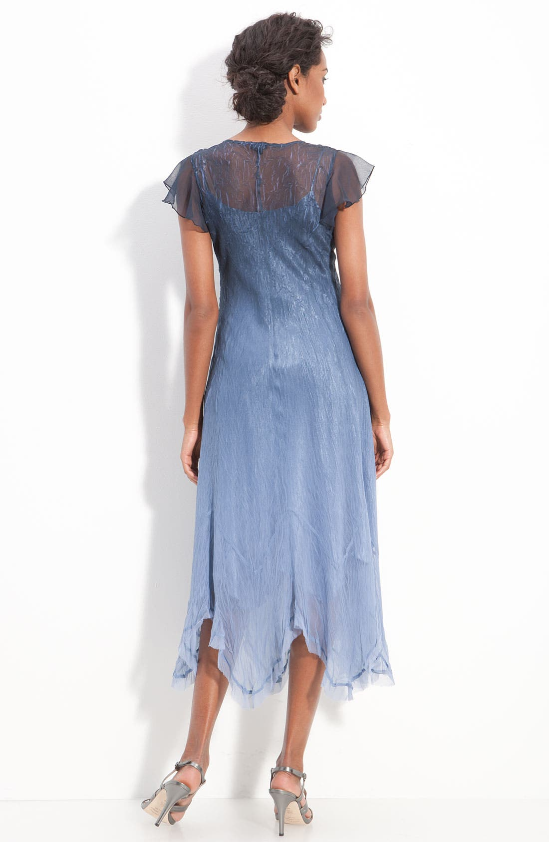 Alternate Image 2  - Komarov Beaded Chiffon Flutter Sleeve Dress