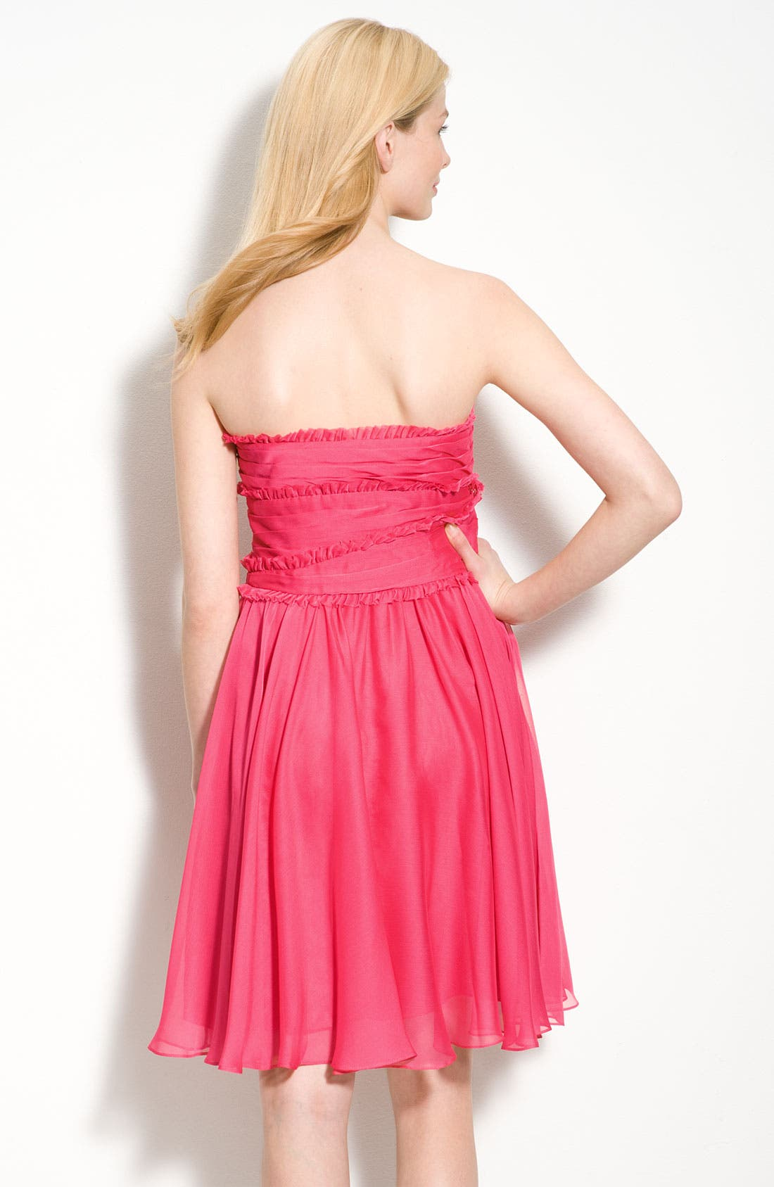 Alternate Image 2  - ML Monique Lhuillier Bridesmaids Ruffle Chiffon Dress (Nordstrom Exclusive)