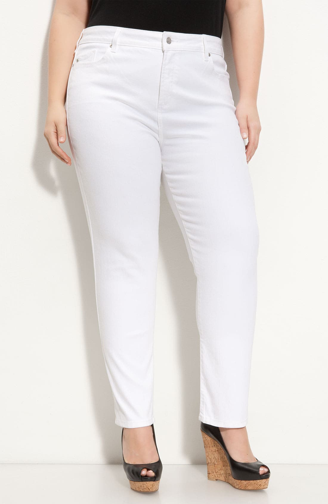 Main Image - NYDJ 'Alisha' Skinny Stretch Jeans (Plus)