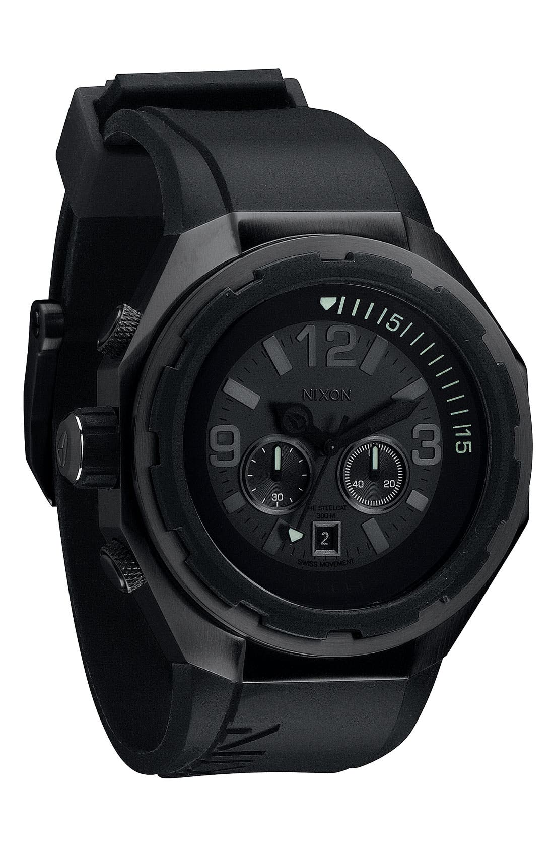 Alternate Image 1 Selected - Nixon 'The Steelcat' Bracelet Watch