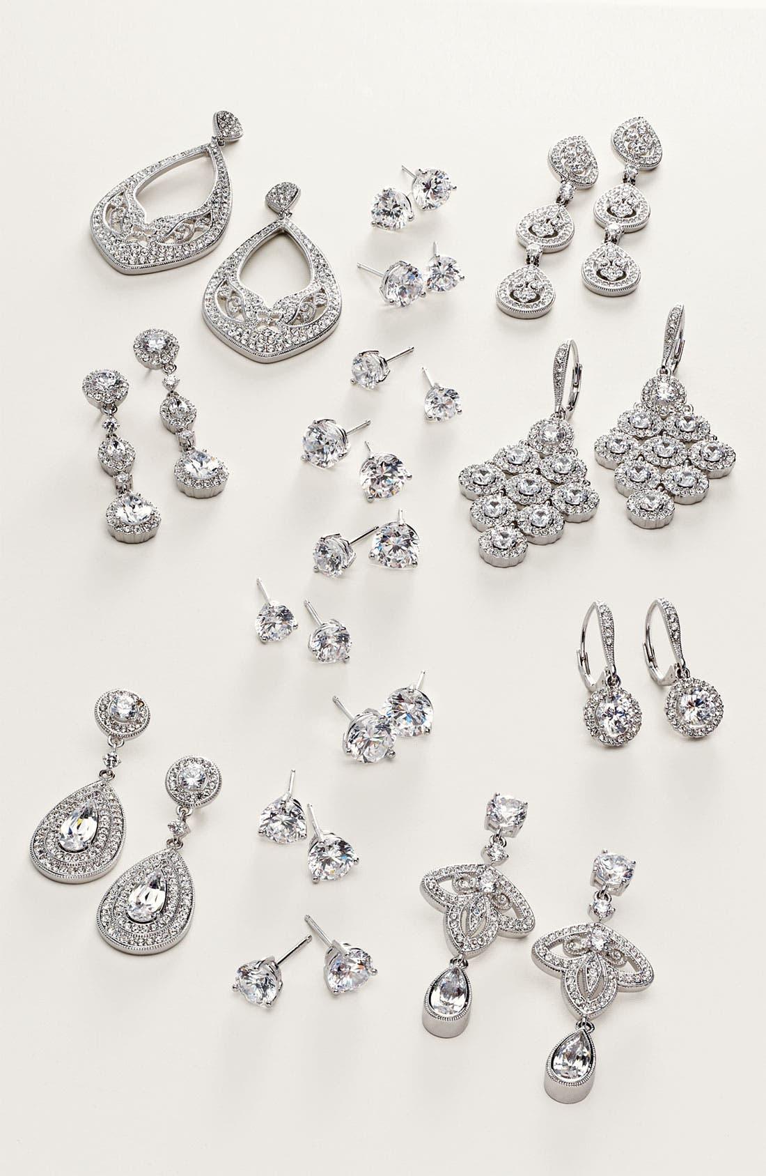 Alternate Image 4  - Nadri Crystal Teardrop Linear Earrings