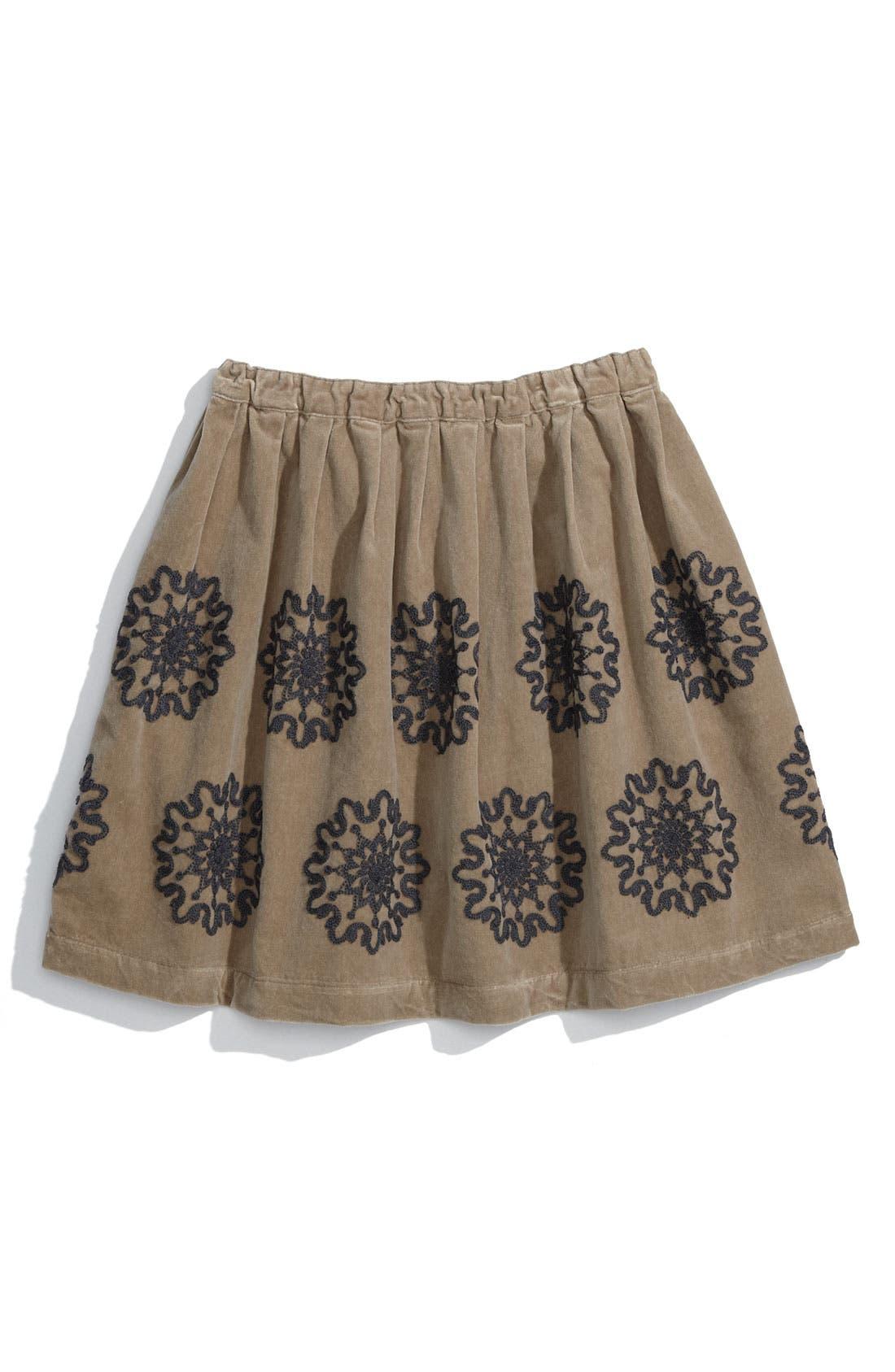 Alternate Image 1 Selected - Peek 'Frida' Velvet Skirt (Toddler & Little Girls)