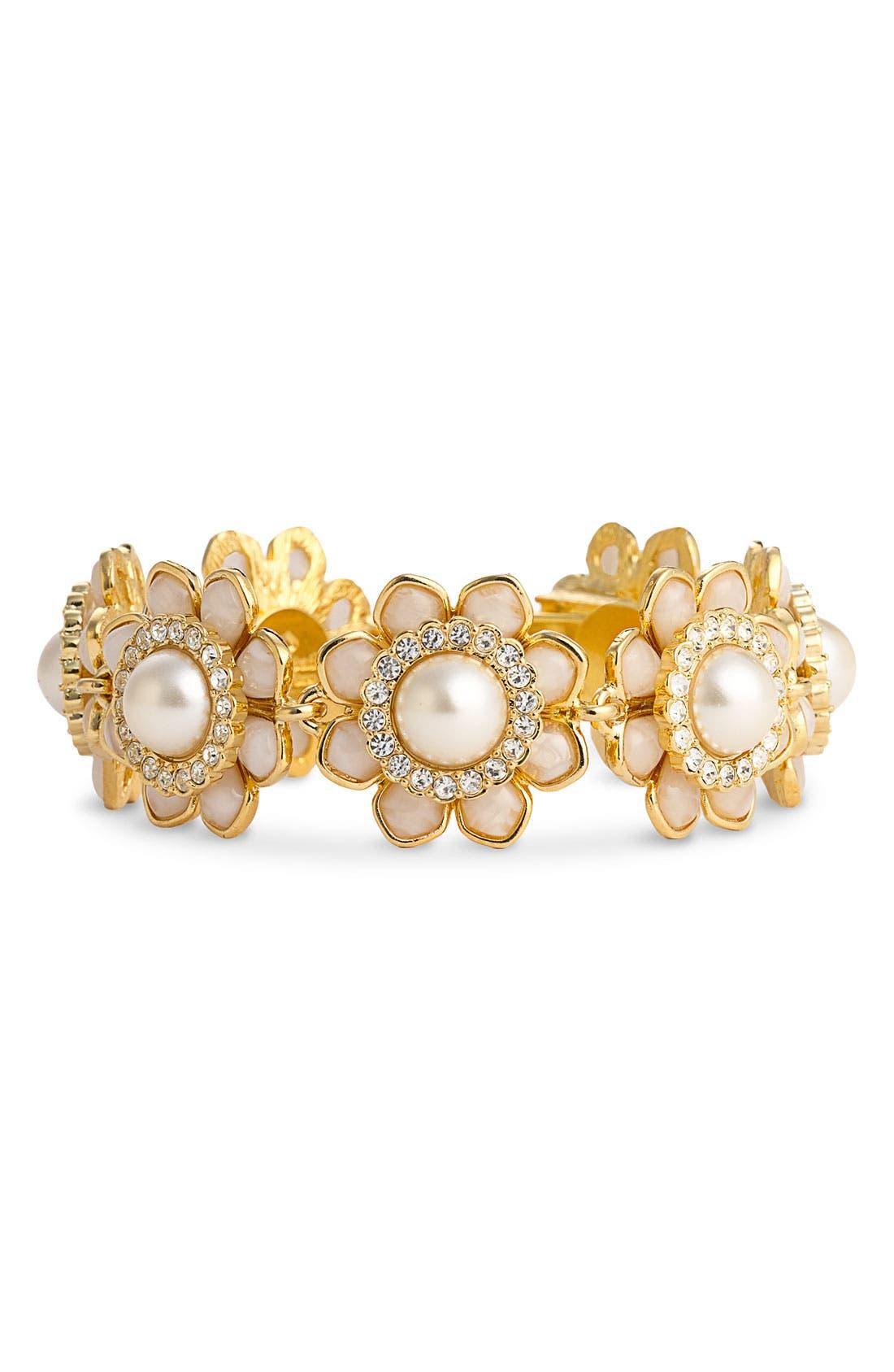 Alternate Image 1 Selected - kate spade new york 'sweet zinnia' floral line bracelet