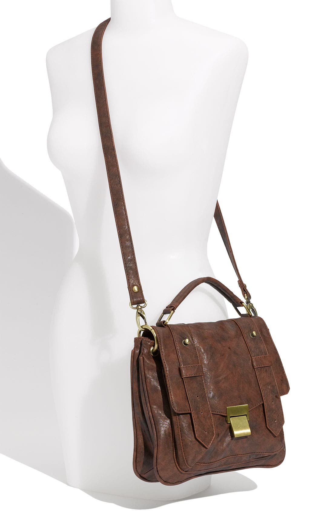 Alternate Image 4  - Cesca Weathered Faux Leather Crossbody Satchel