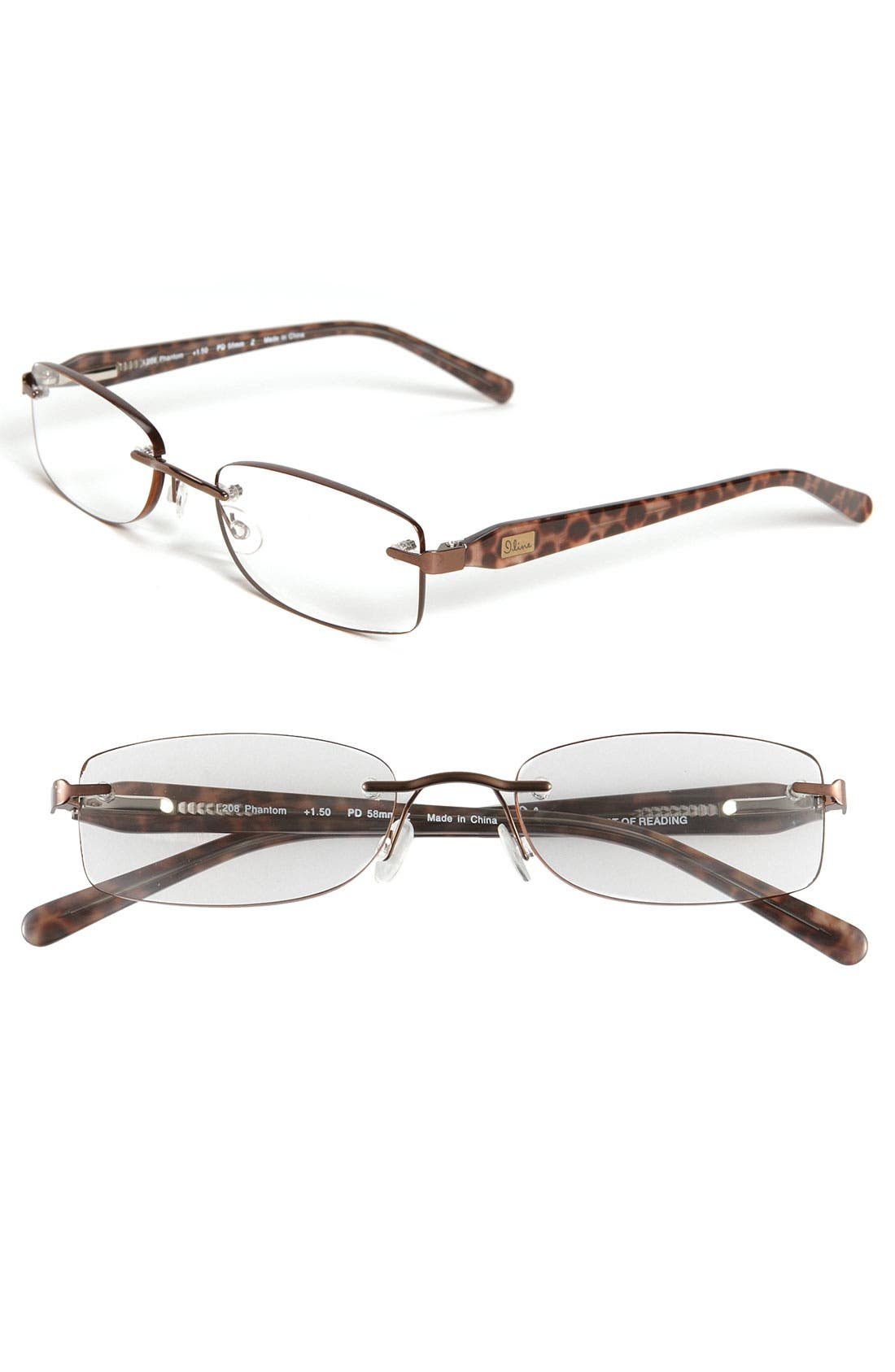 Alternate Image 1 Selected - I Line Eyewear 'Phantom' EdgeGlow® Reading Glasses (2 for $88)
