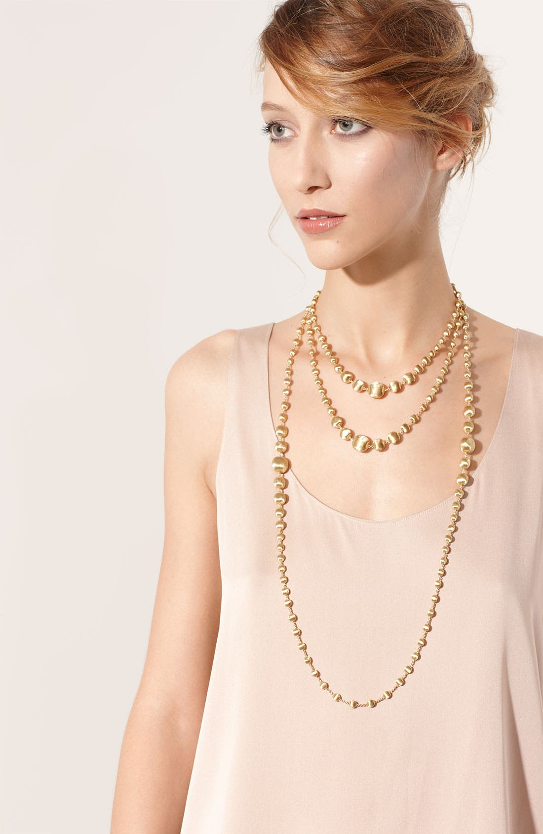 Alternate Image 2  - Marco Bicego 'Africa Gold' Graduated Long Strand Necklace