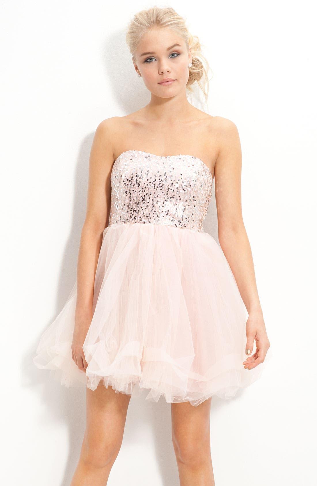 Alternate Image 1 Selected - Trixxi 'Ballerina' Dress (Juniors)