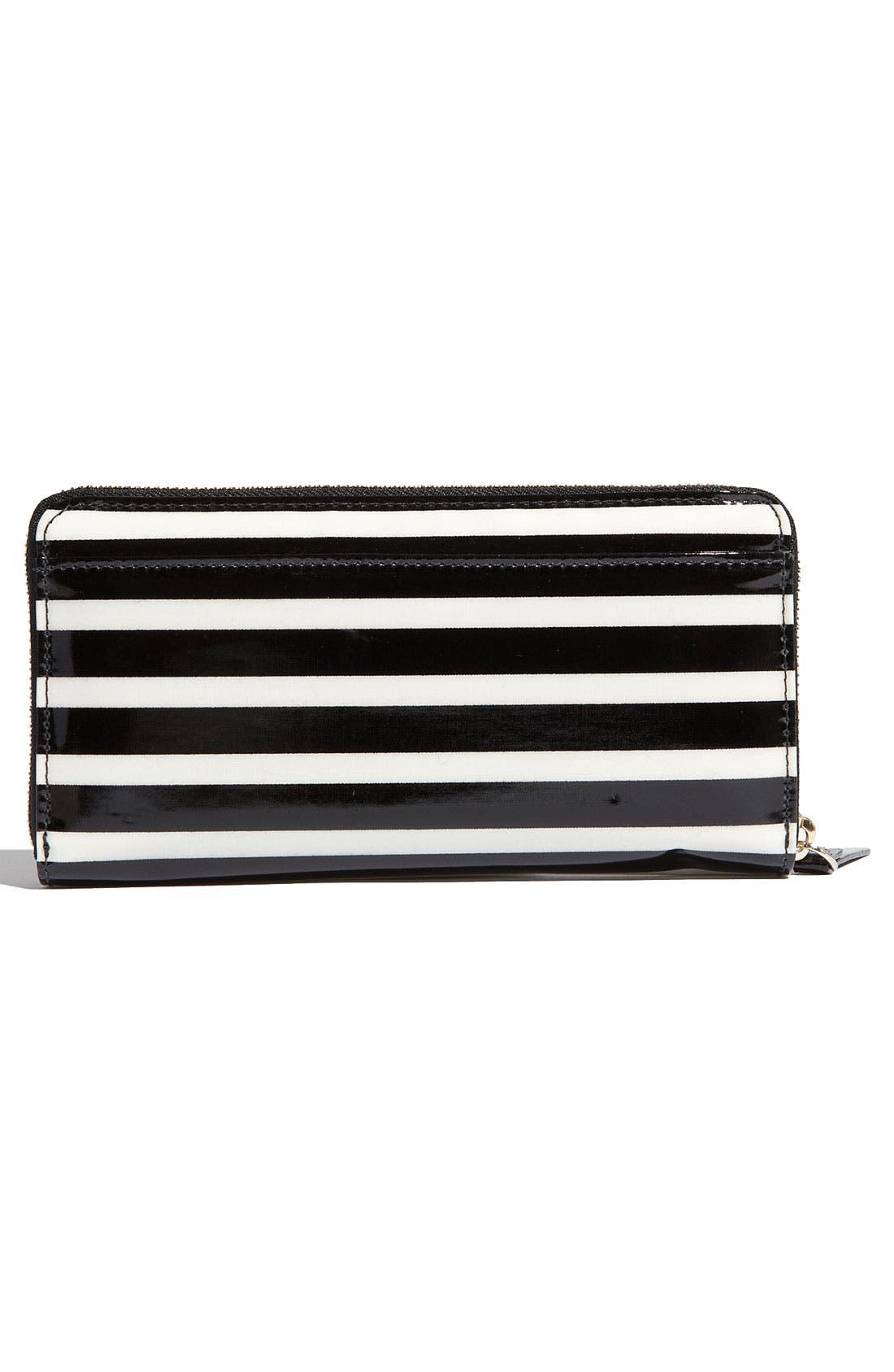 Alternate Image 4  - kate spade new york 'stripe lacey' zip around wallet