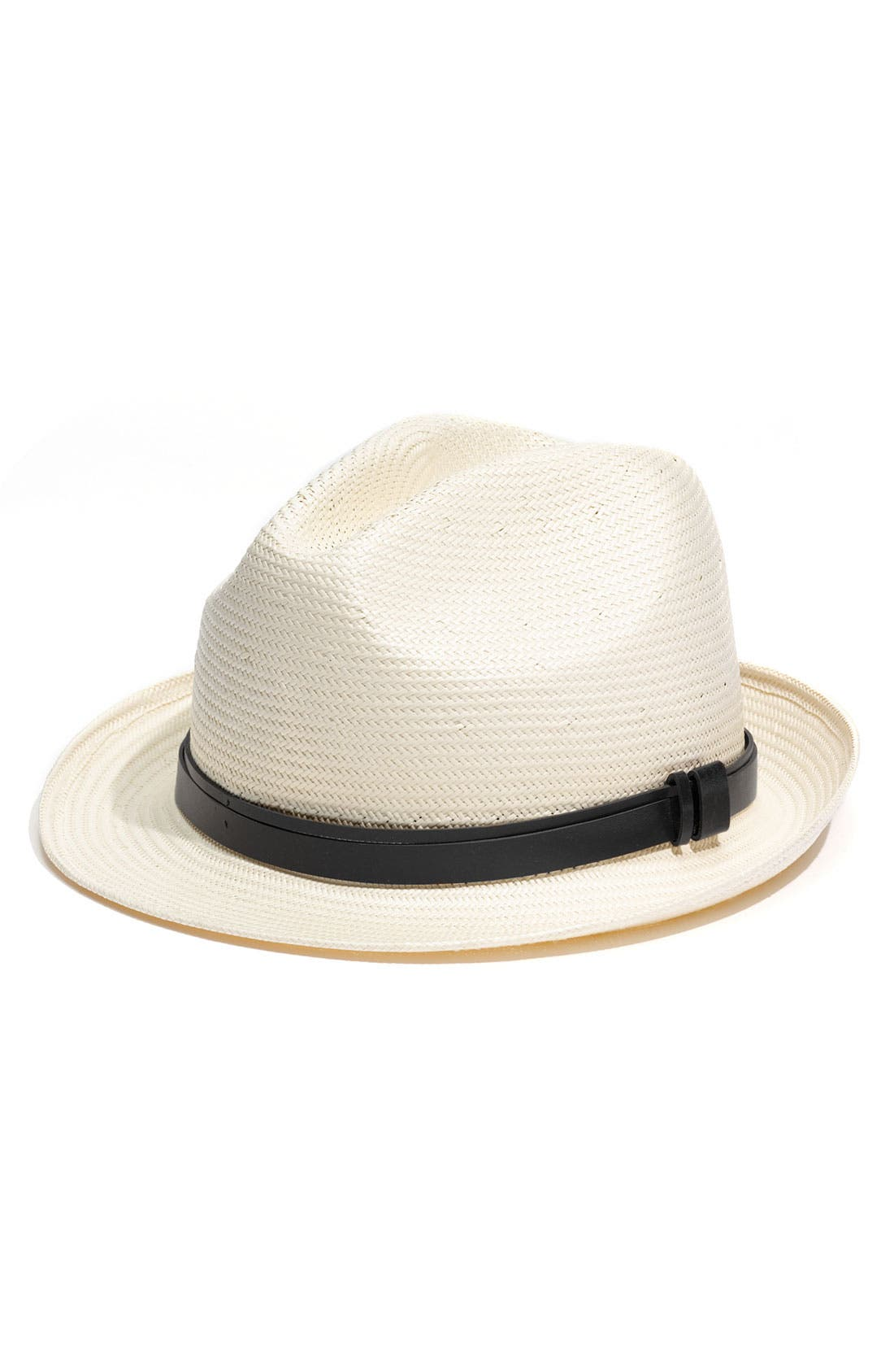 Main Image - Halogen® Leather Belt Fedora