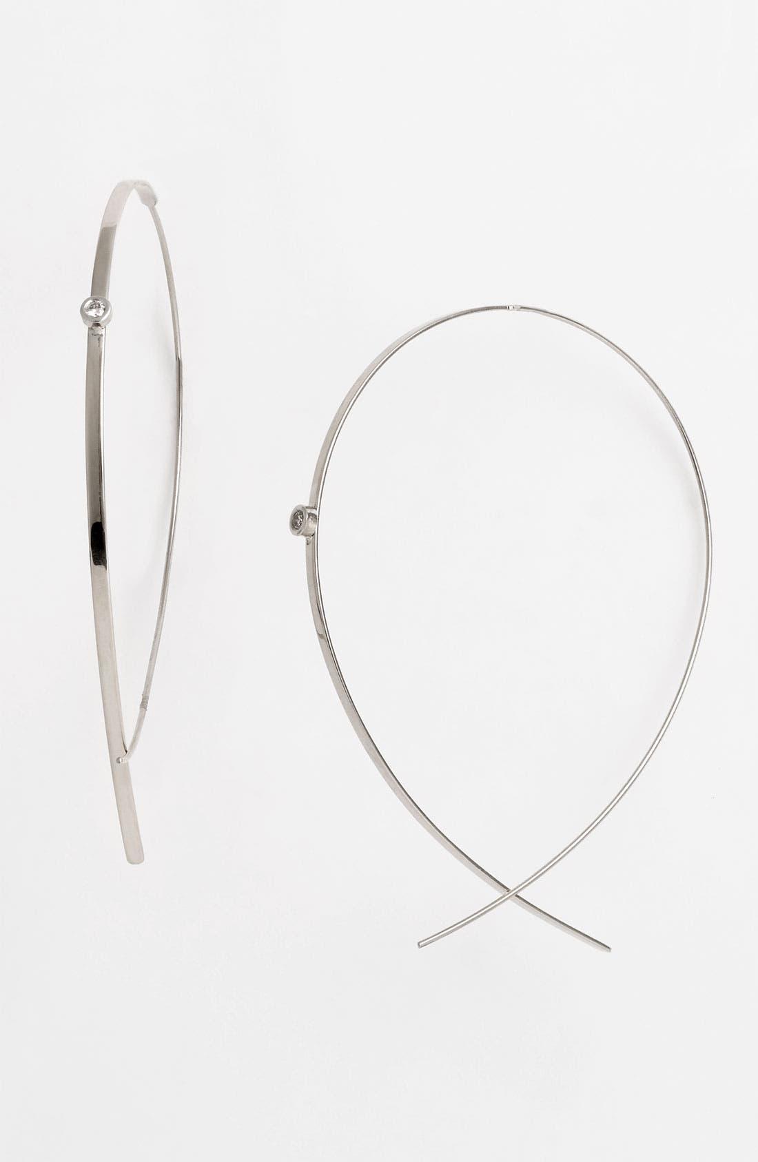 Alternate Image 1 Selected - Lana Jewelry 'Flat Upside Down' Diamond Hoop Earrings