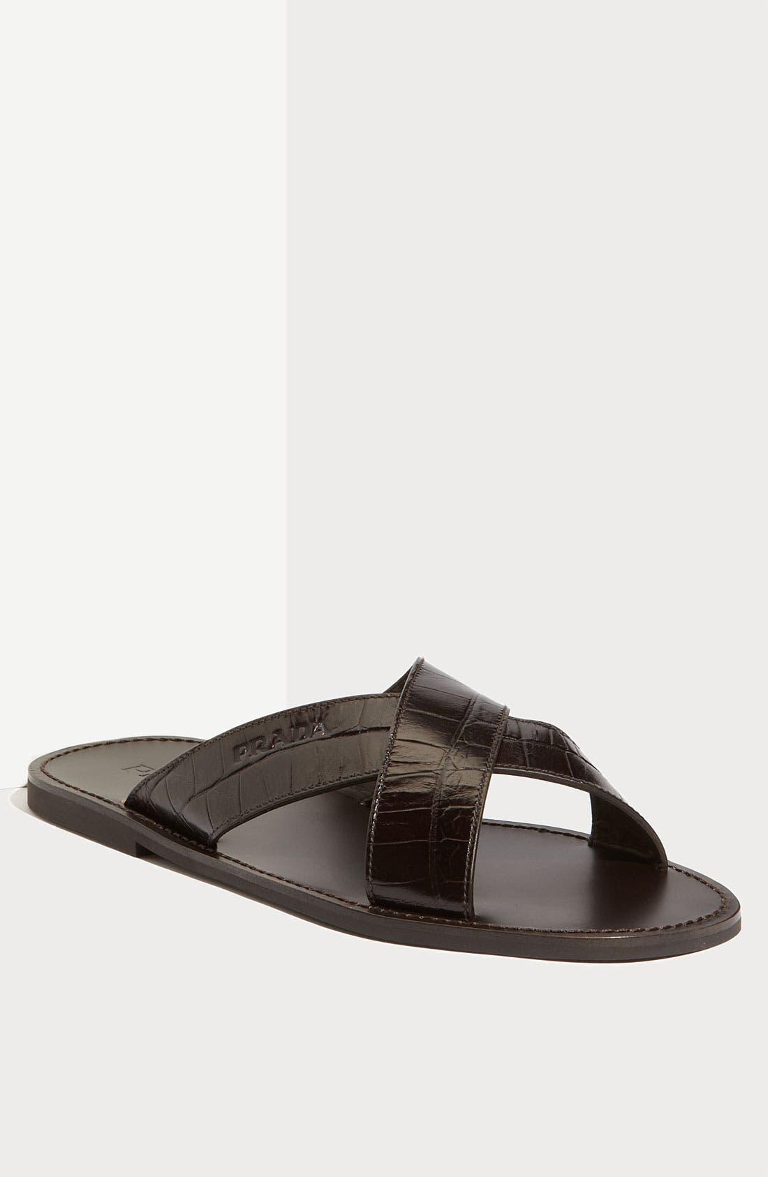 Alternate Image 1 Selected - Prada Cross Strap Sandal