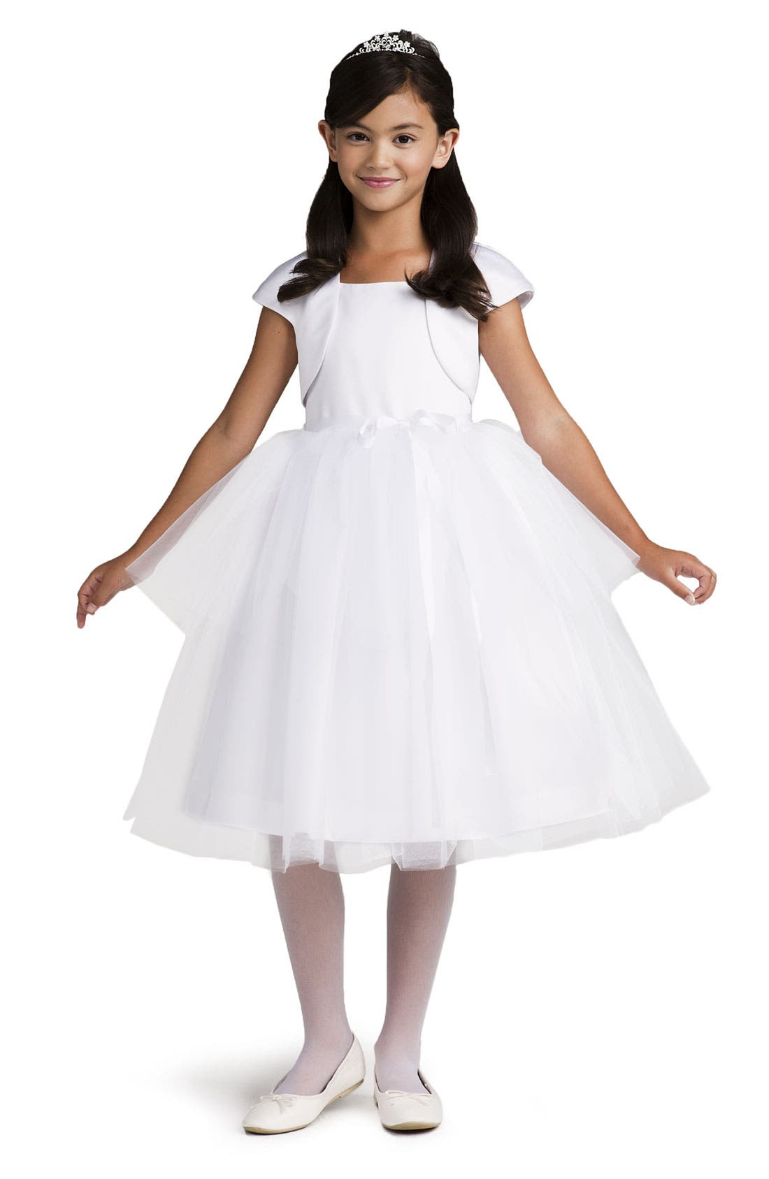 Alternate Image 2  - Us Angels Tulle Ballerina Dress (Big Girls)