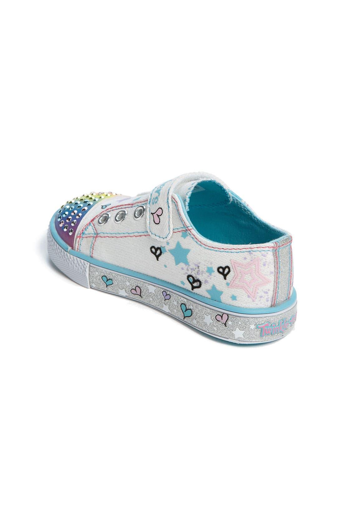 Alternate Image 2  - SKECHERS 'Peekaboo' Sneaker (Walker & Toddler)