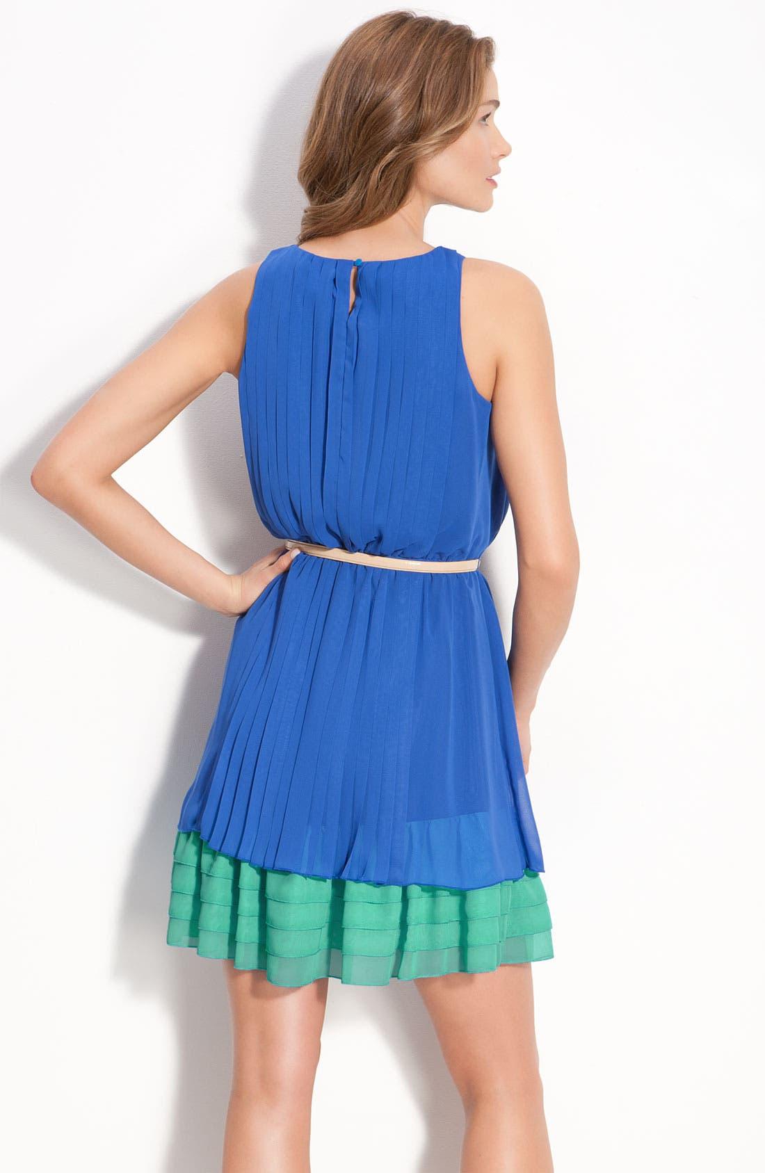 Alternate Image 2  - Jessica Simpson Sleeveless Chiffon Dress