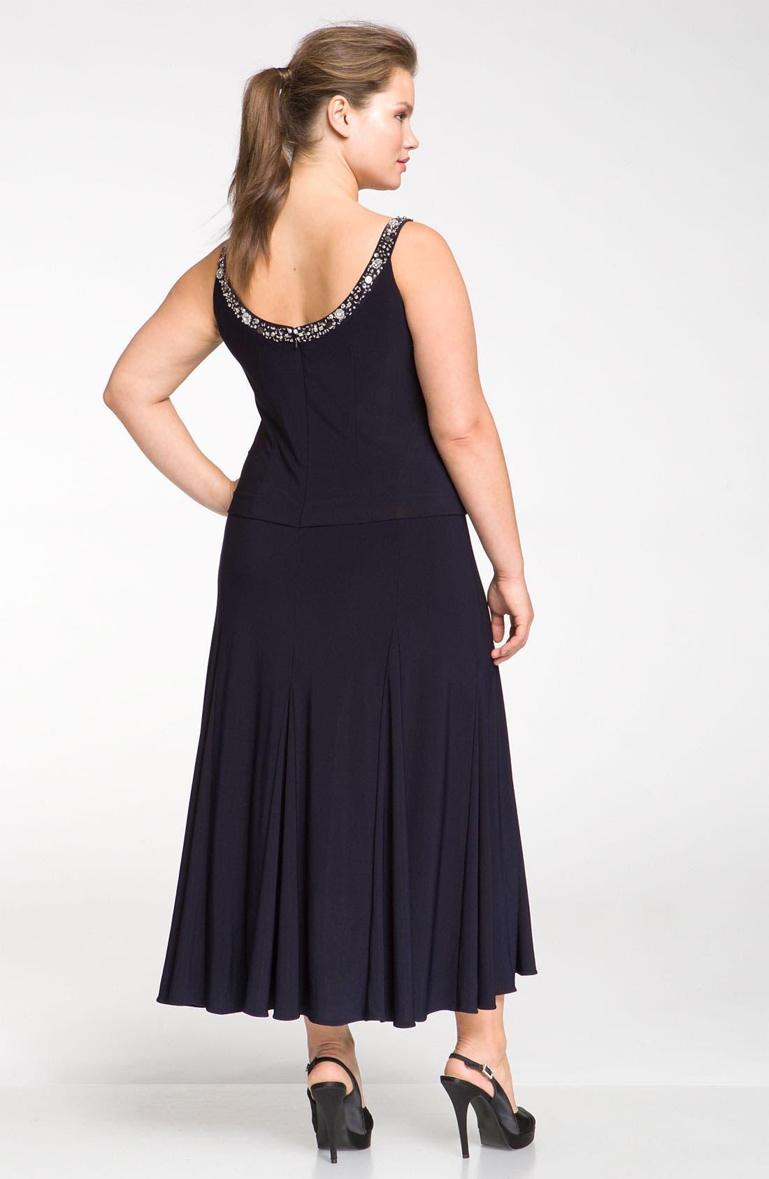 Alternate Image 2  - Alex Evenings Beaded Dress & Jacket (Plus Size)