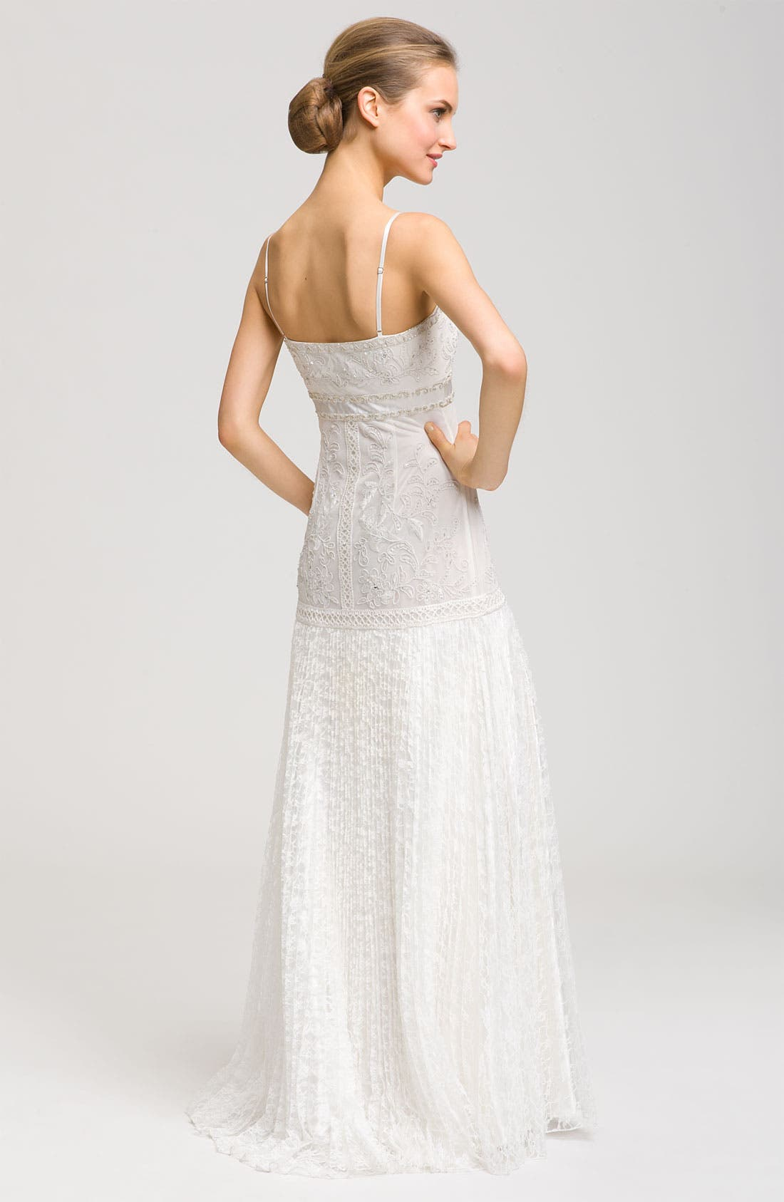 Alternate Image 3  - Sue Wong Spaghetti Strap Embroidered Gown