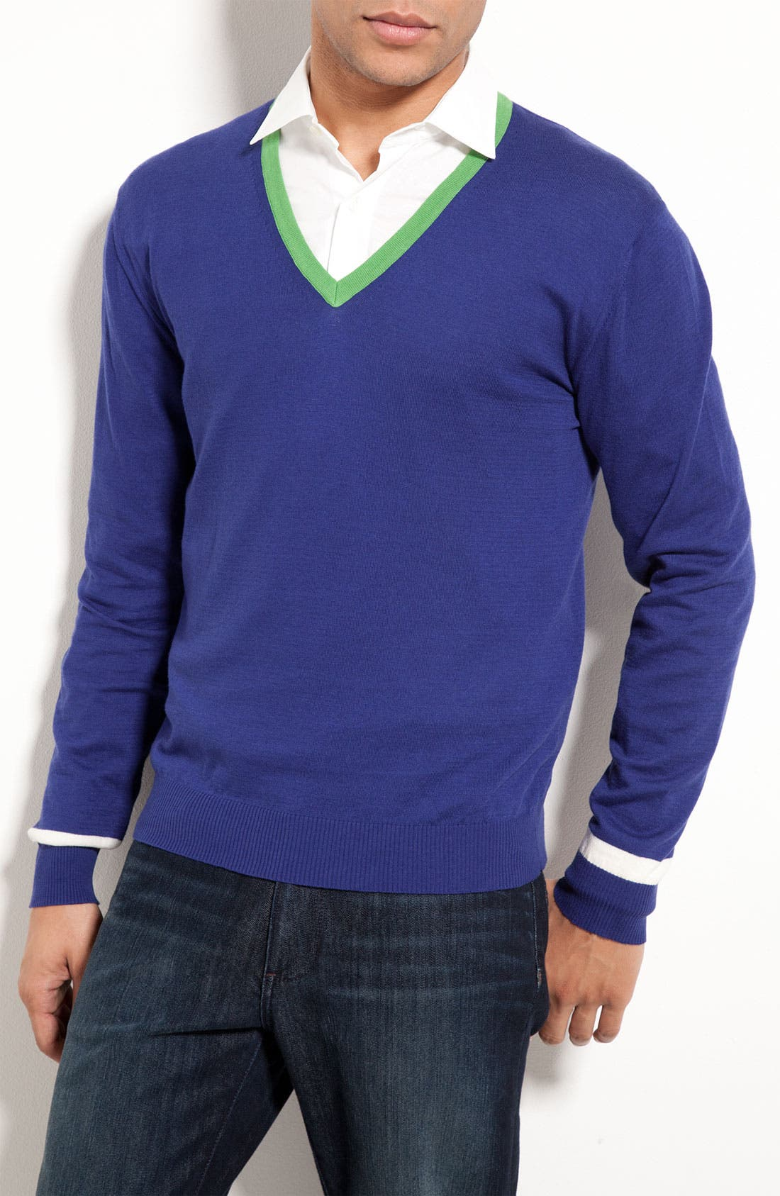 Alternate Image 1 Selected - Etro V-Neck Sweater