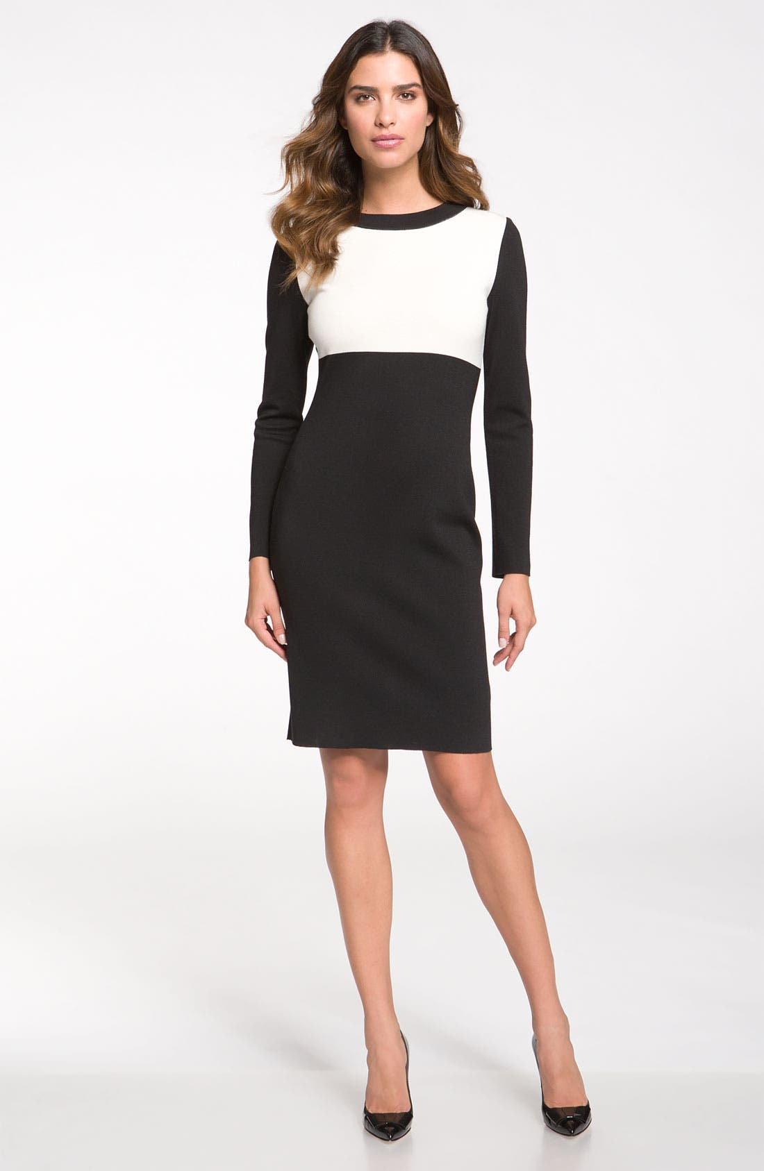 Main Image - St. John Collection Colorblock Milano Knit Dress