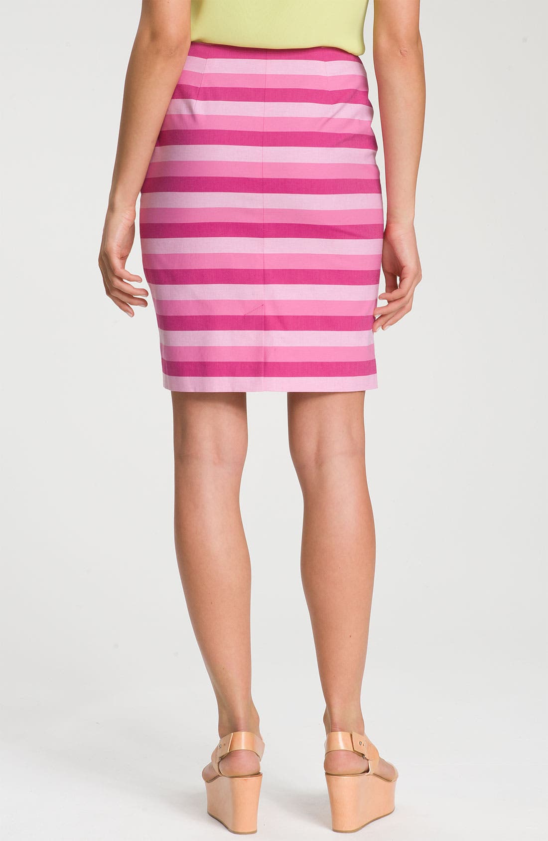 Alternate Image 2  - Halogen® Stretch Cotton Blend Pencil Skirt