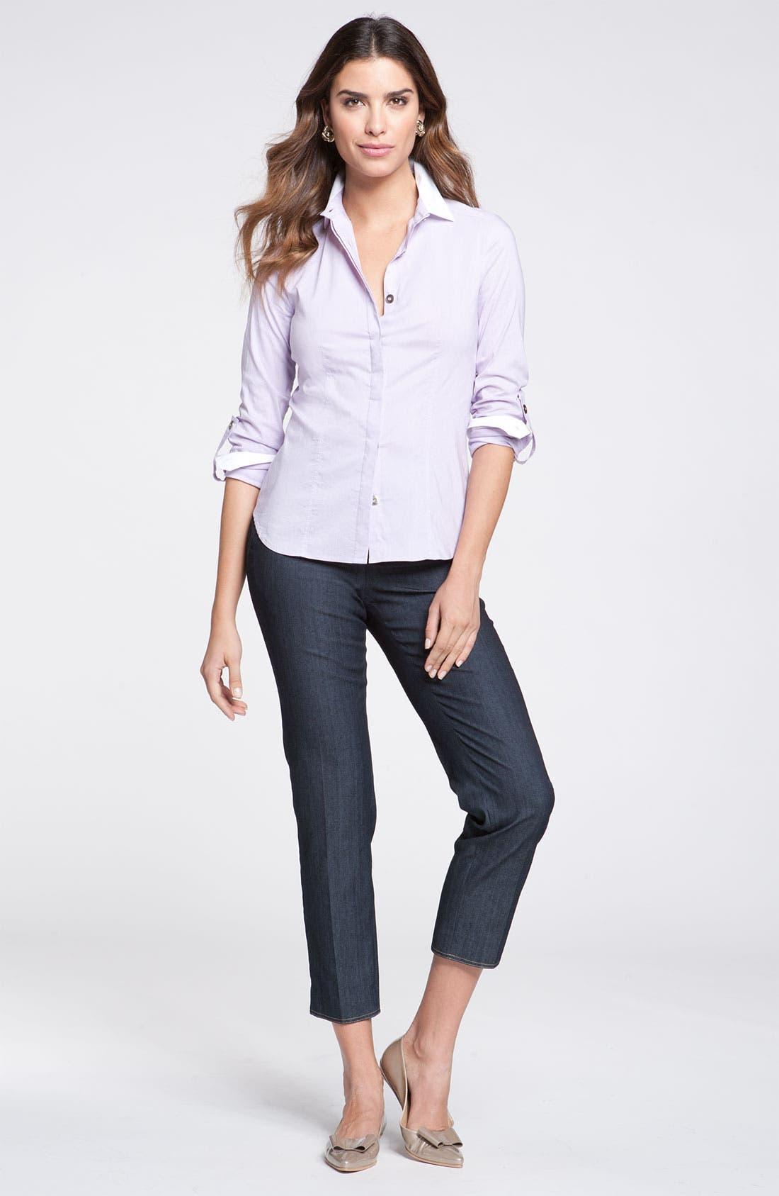 Alternate Image 3  - St. John Collection 'Emma' Lightweight Crop Jeans