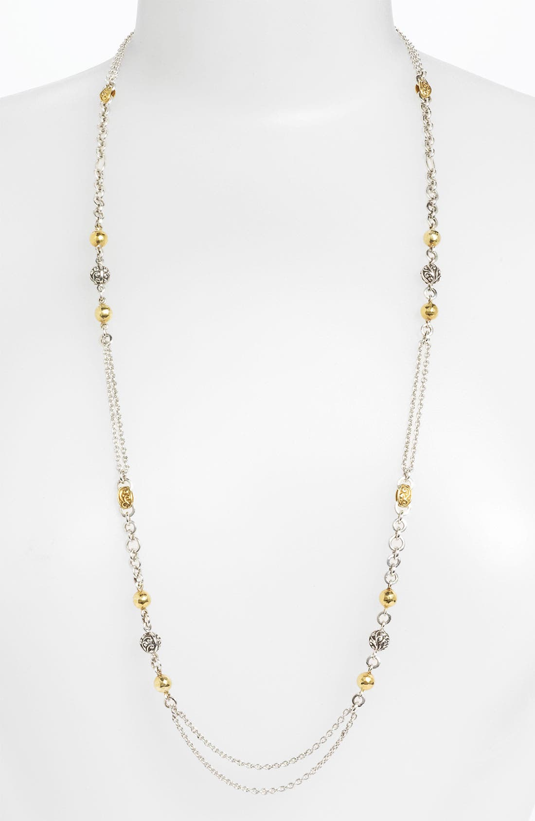 Main Image - Lois Hill 'Repousse' Two Tone Long Strand Necklace