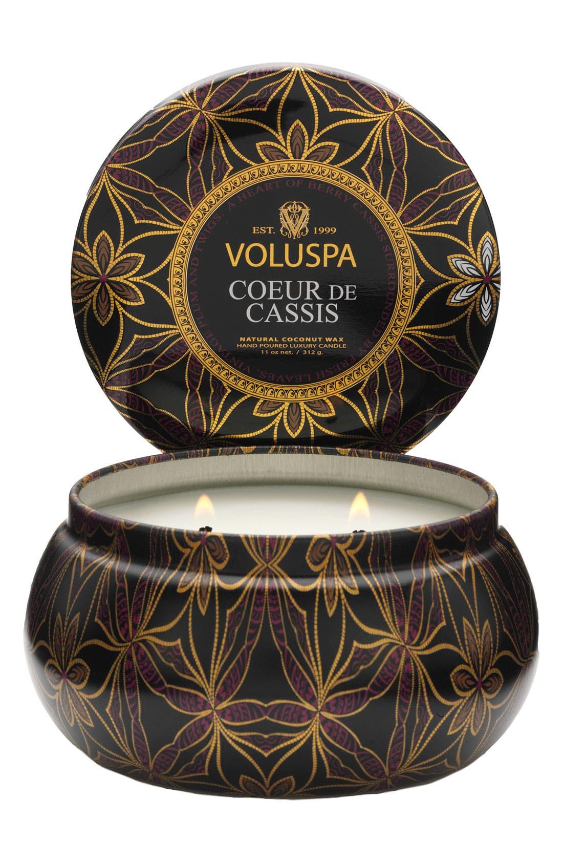 Alternate Image 1 Selected - Voluspa 'Maison d'Or - Coeur de Cassis' 2-Wick Candle