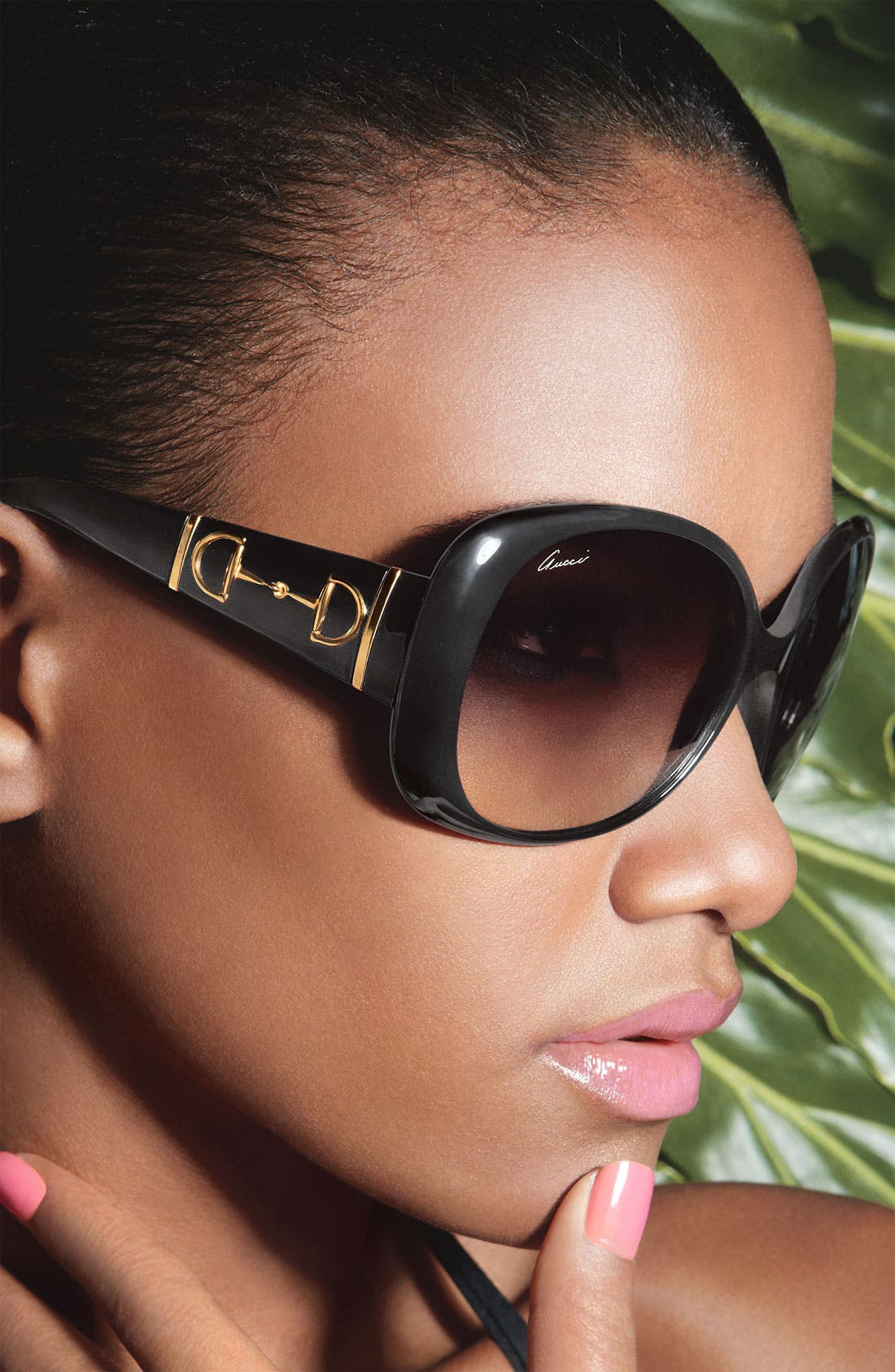 Alternate Image 2  - Gucci Oversized Sunglasses
