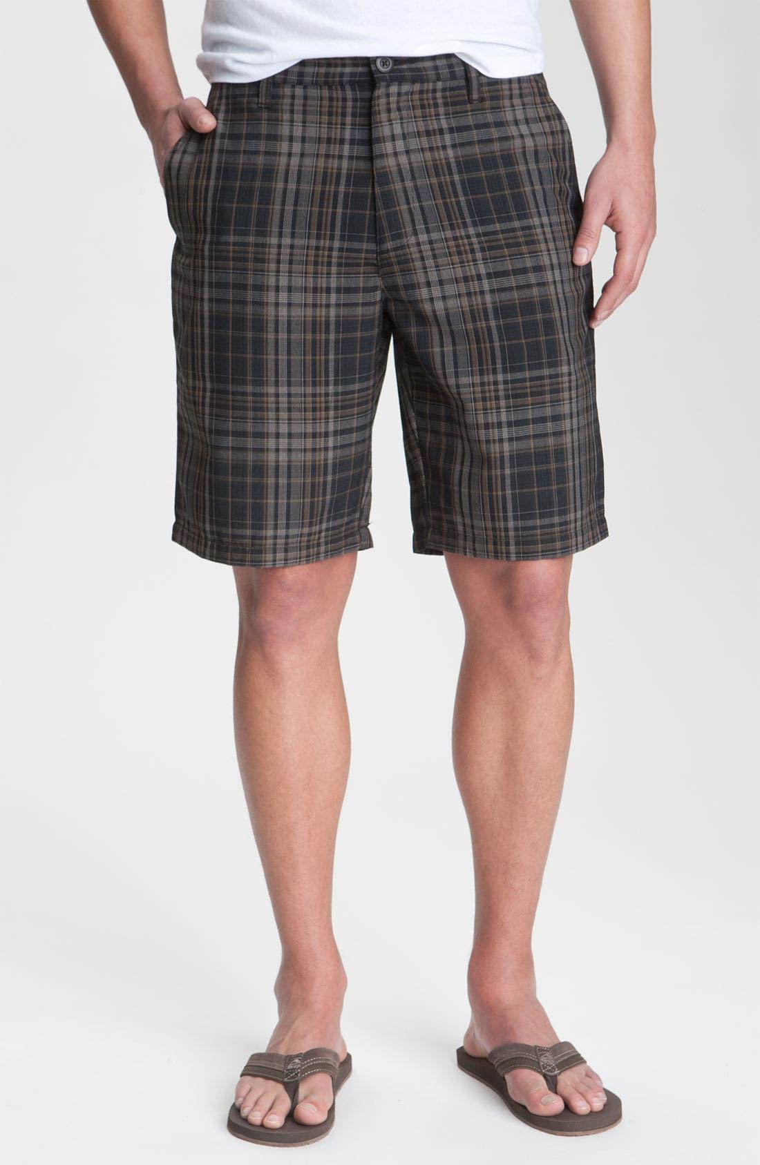 Alternate Image 1 Selected - RVCA 'Delta' Plaid Shorts