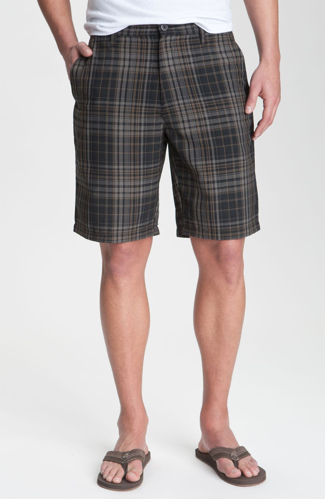 Main Image - RVCA 'Delta' Plaid Shorts