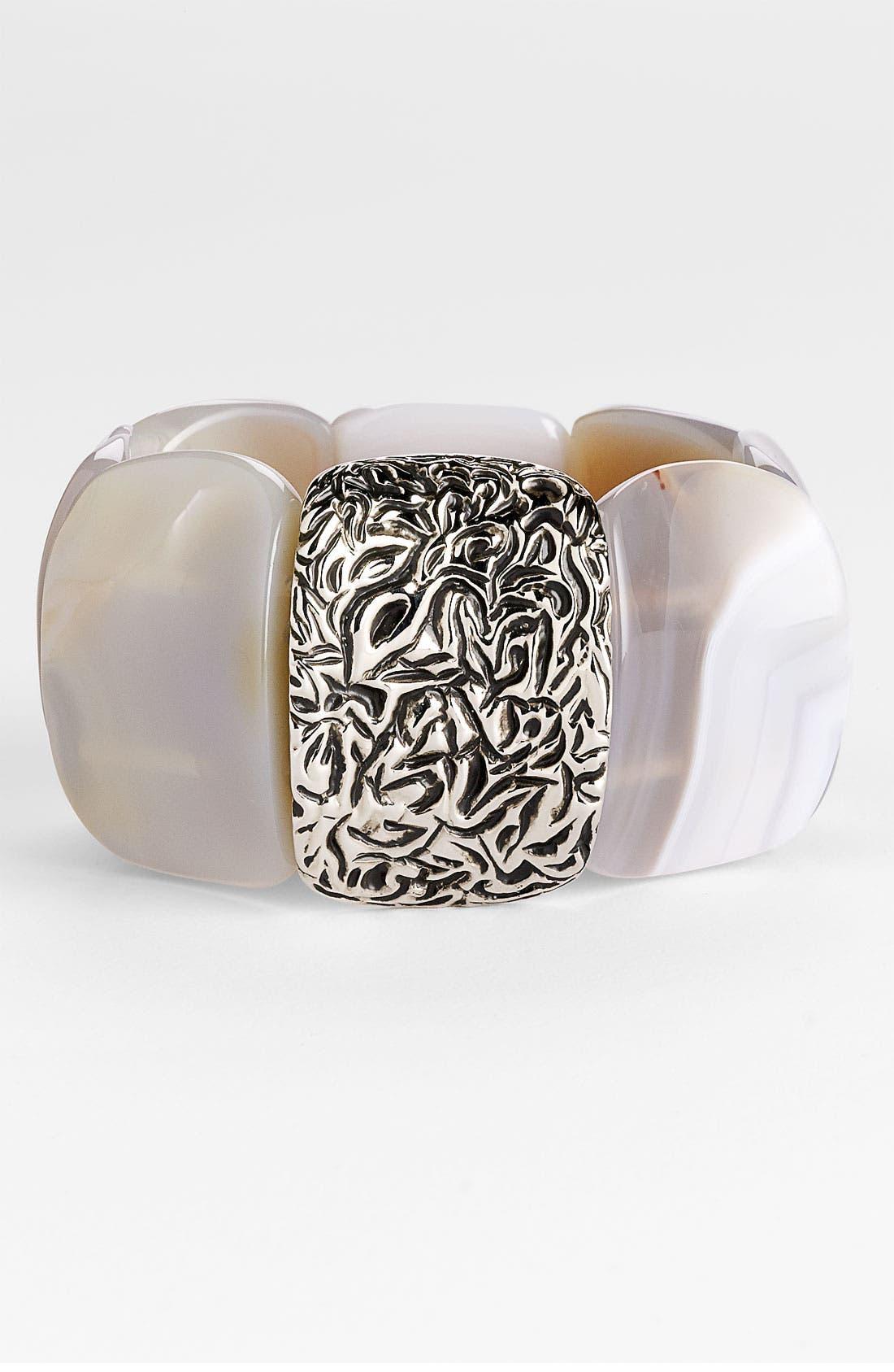 Alternate Image 1 Selected - St. John Collection Agate Stretch Bracelet