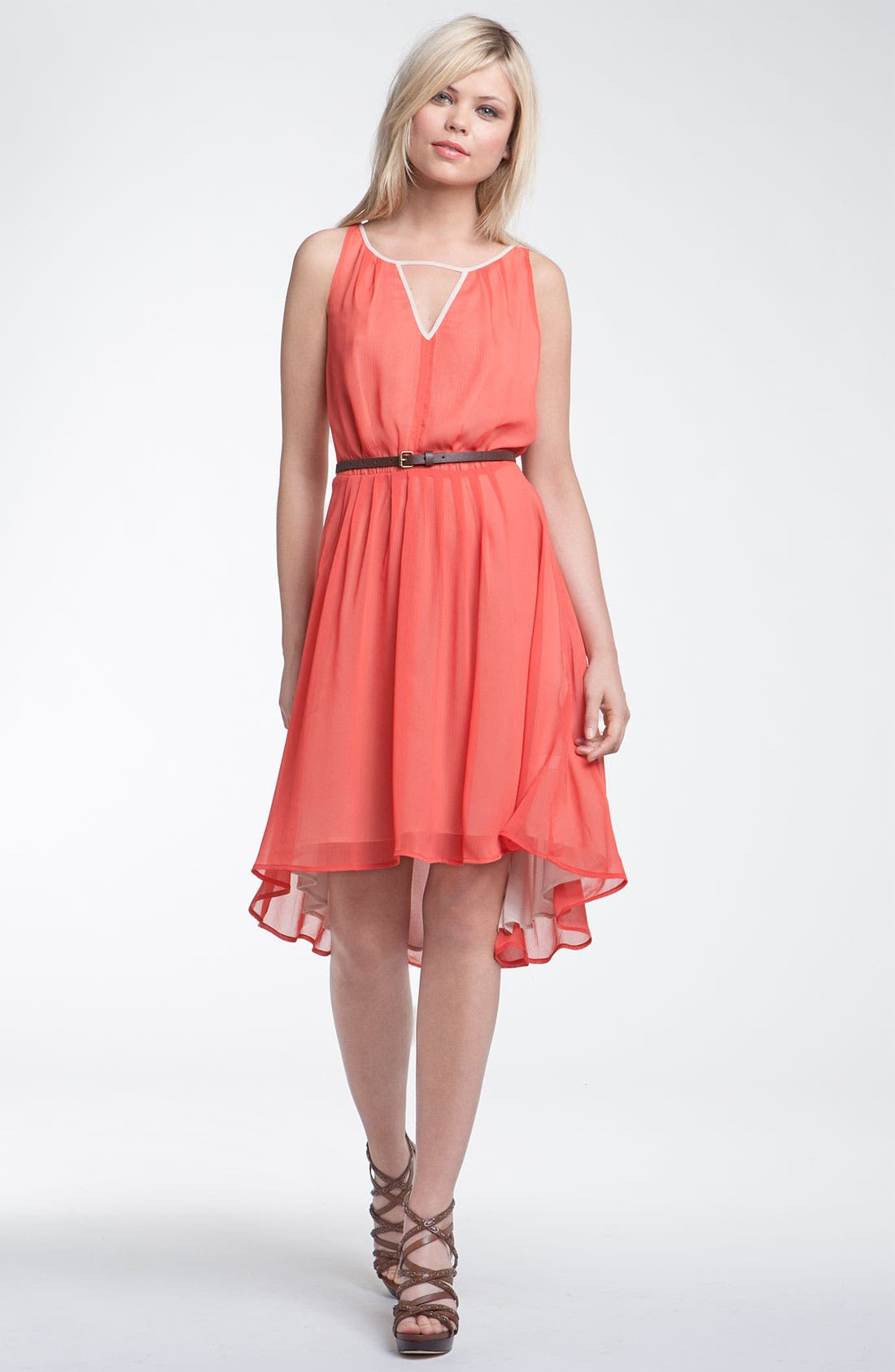 Main Image - Hinge® Asymmetrical Layered Chiffon Dress