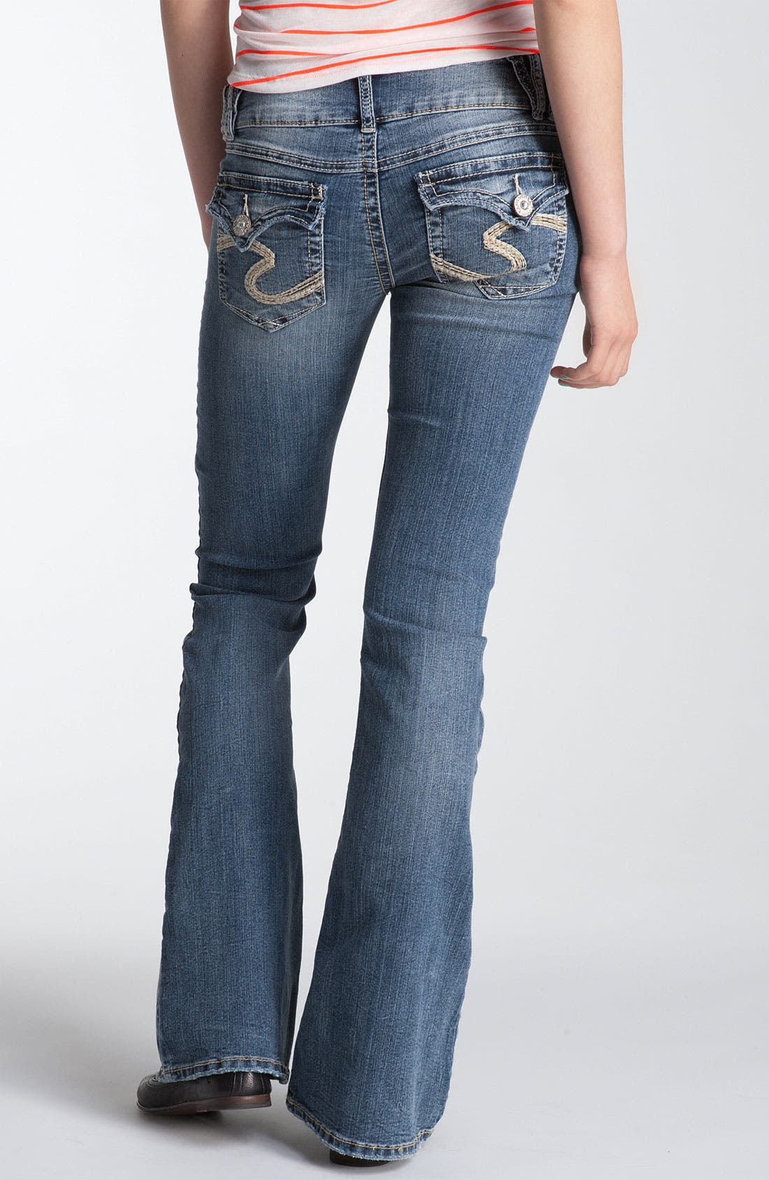Main Image - Silver Jeans Co. 'Dawson' Flare Leg Jeans (Juniors)