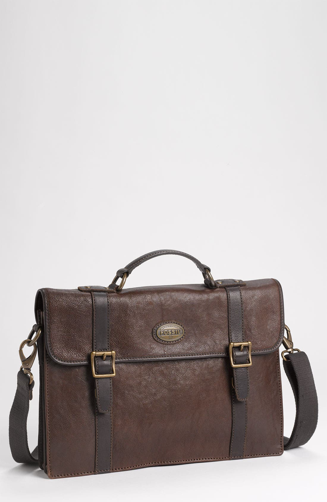 Main Image - Fossil 'Estate' Leather Portfolio Briefcase