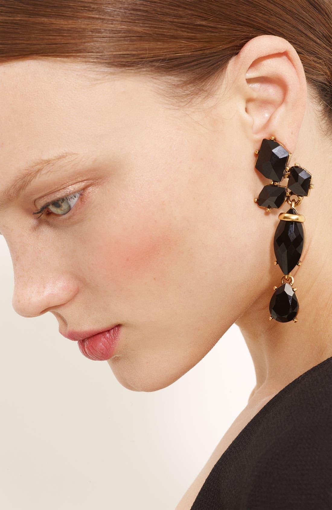 Alternate Image 1 Selected - Oscar de la Renta Triple Drop Clip Earrings