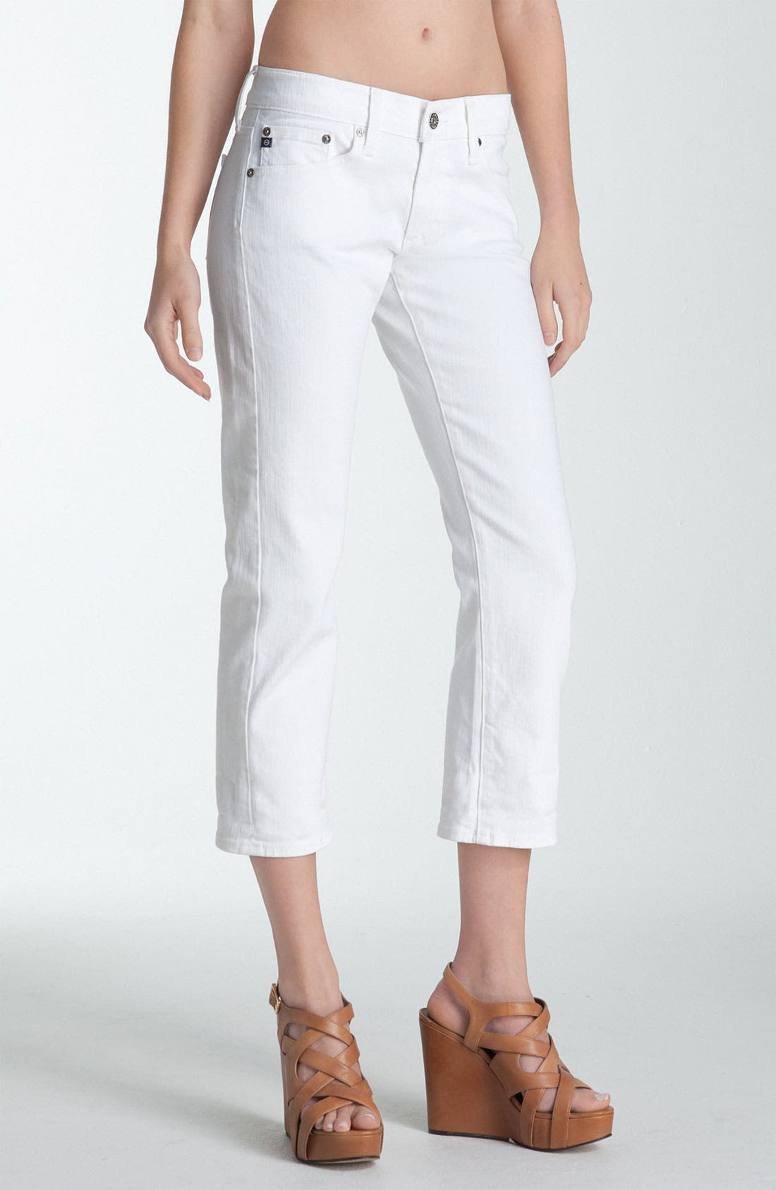 Alternate Image 2  - AG Jeans 'Tomboy' Crop Jeans (White)