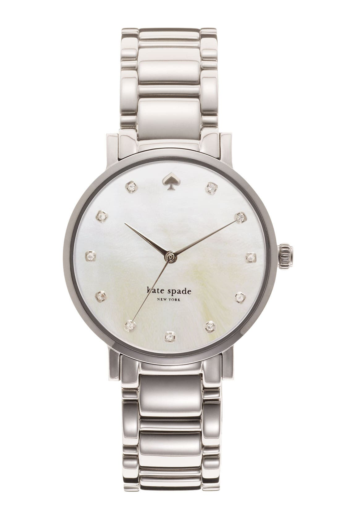 Main Image - kate spade new york 'gramercy' crystal marker watch, 34mm