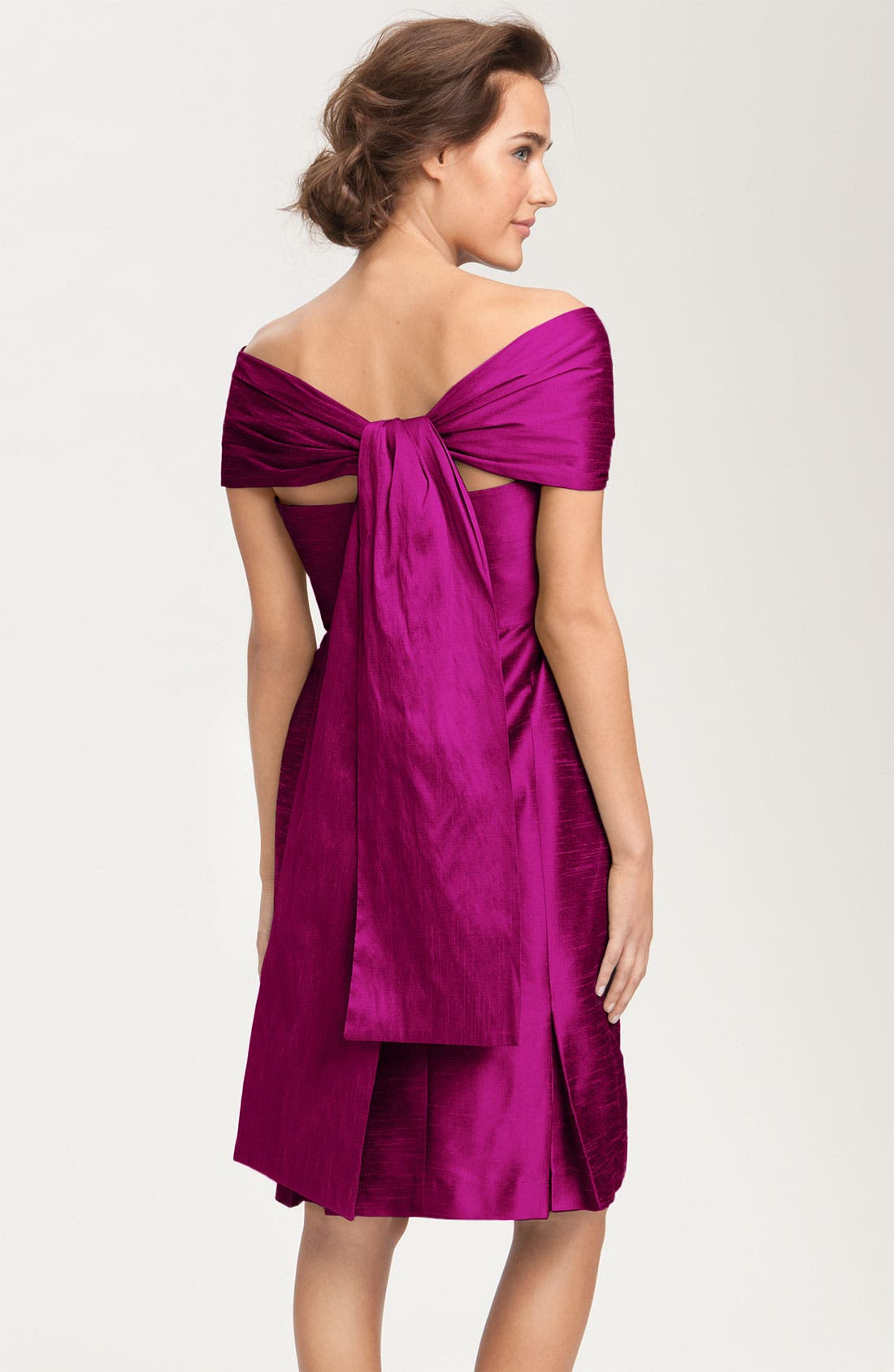 Alternate Image 6  - Anna Elyse Bridesmaids Convertible Shantung Dress