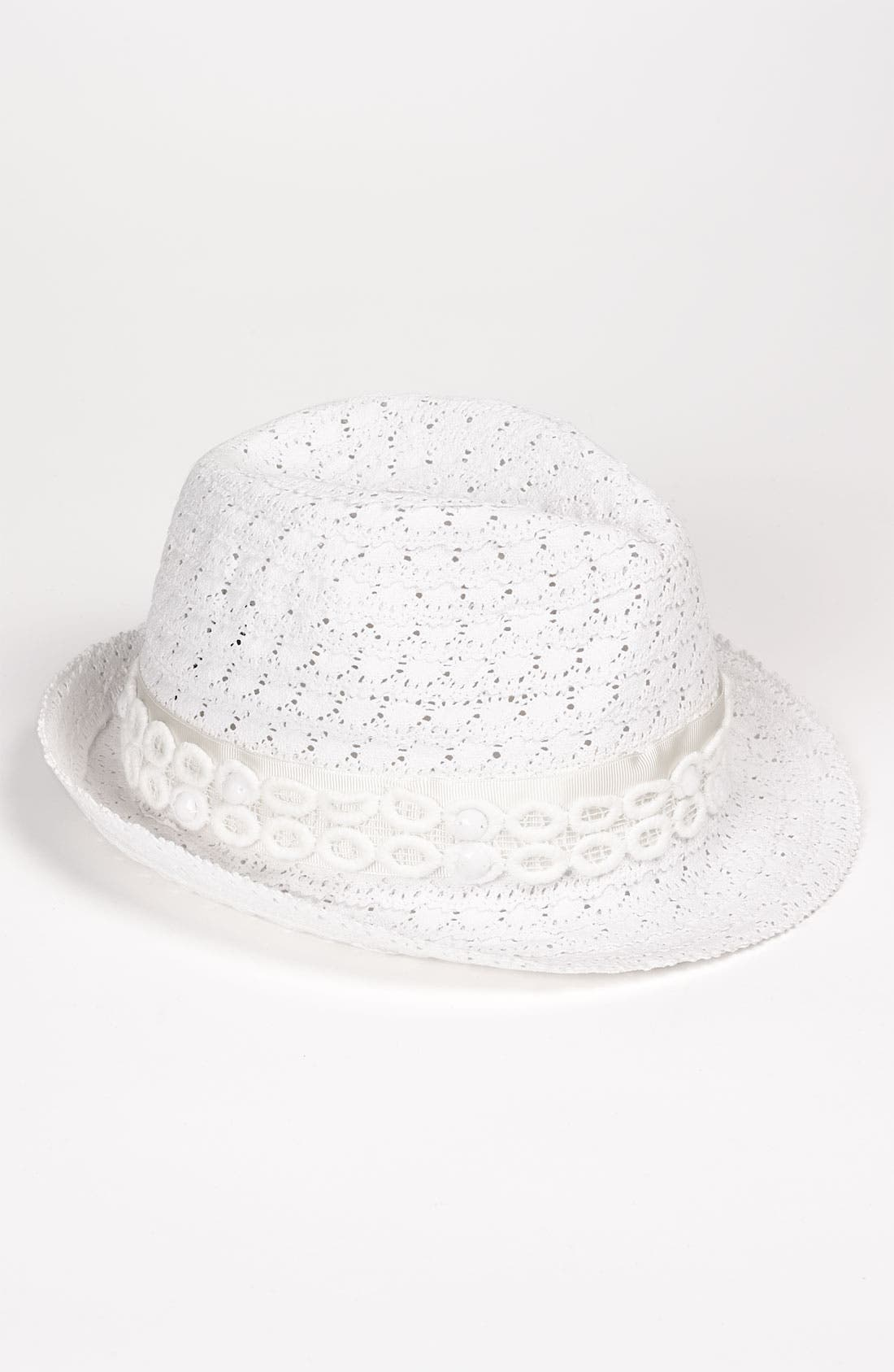 Alternate Image 1 Selected - Laundry by Shelli Segal 'Marissa' Coiled Lace Fedora