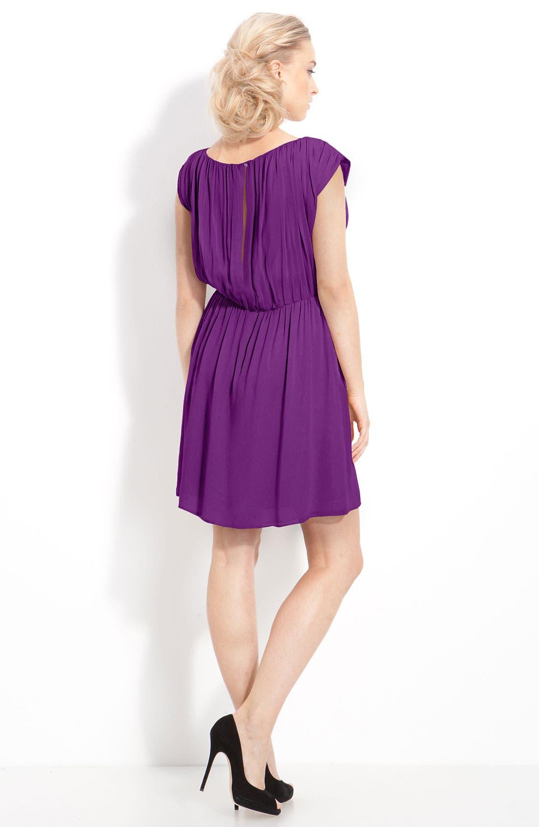 Alternate Image 2  - Alice + Olivia 'Josie' Ruched Chiffon Dress