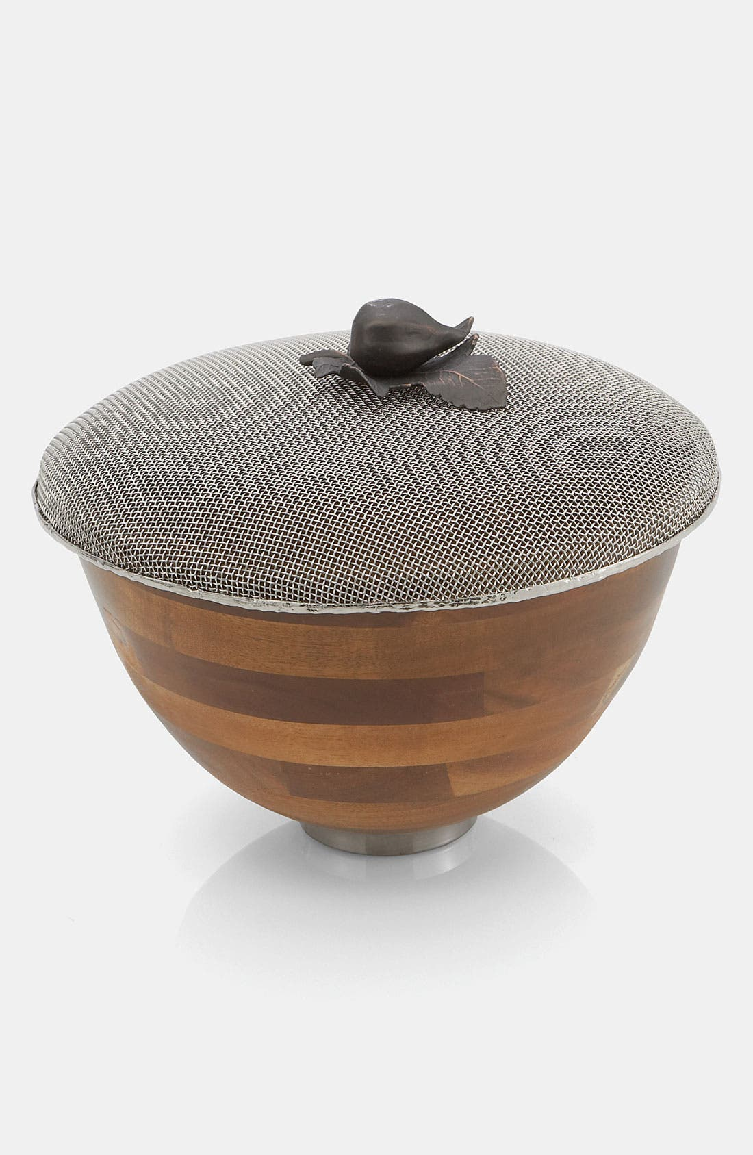 Alternate Image 1 Selected - Michael Aram 'Fig Leaf' Mesh Lid Serving Bowl