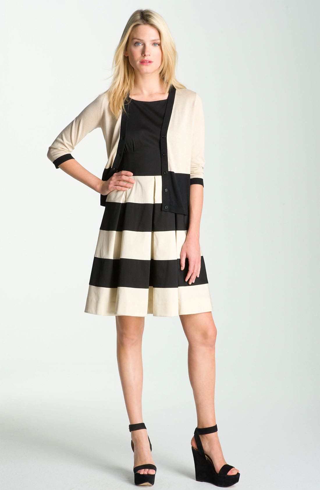 Alternate Image 3  - kate spade new york 'celina' pleated stripe dress (Online Exclusive)