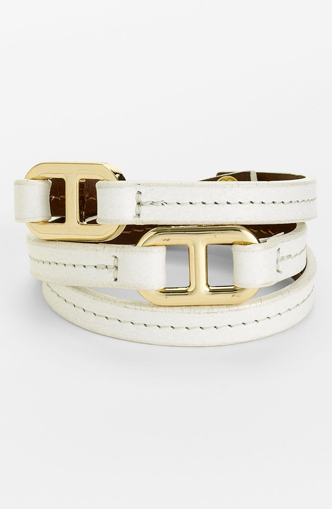 Alternate Image 1 Selected - Tory Burch 'Plato' Leather Wrap Bracelet