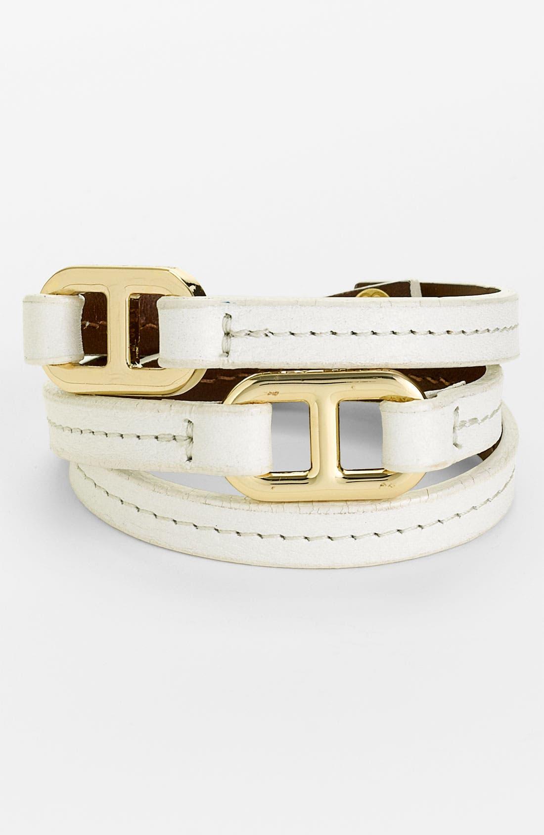 Main Image - Tory Burch 'Plato' Leather Wrap Bracelet