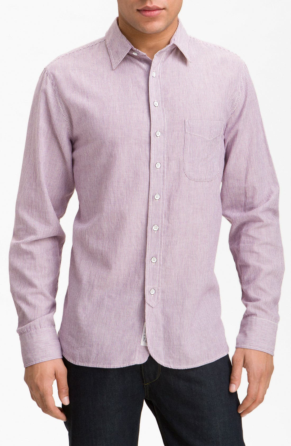 Alternate Image 1 Selected - rag & bone Stripe Sport Shirt