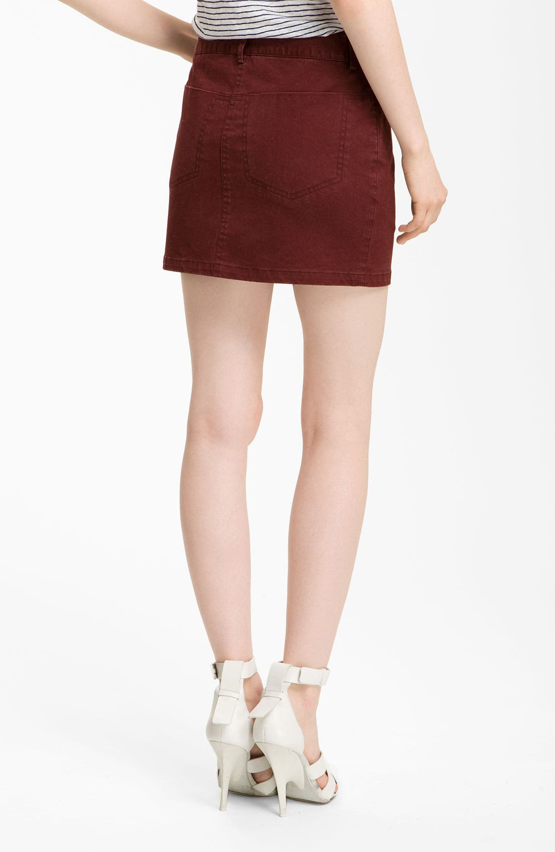 Alternate Image 2  - T by Alexander Wang Stretch Twill Jean Skirt