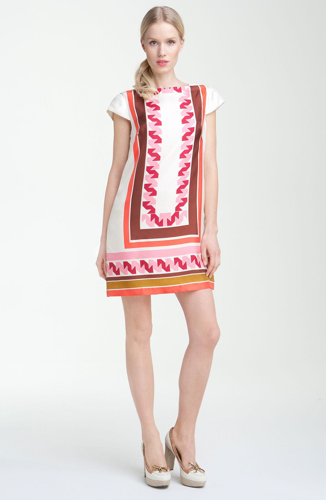 Main Image - Milly 'Vivienne' Print Silk Shift Dress