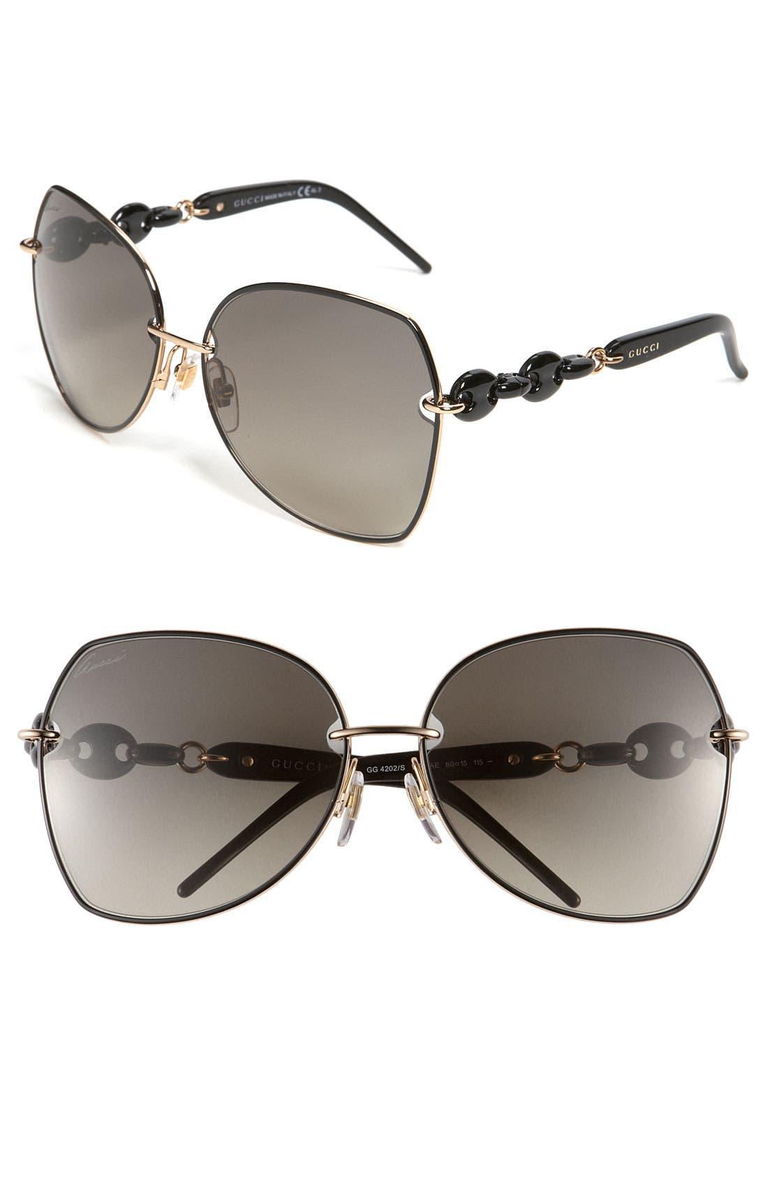 Main Image - Gucci 60mm 'Italian Collection' Retro Sunglasses